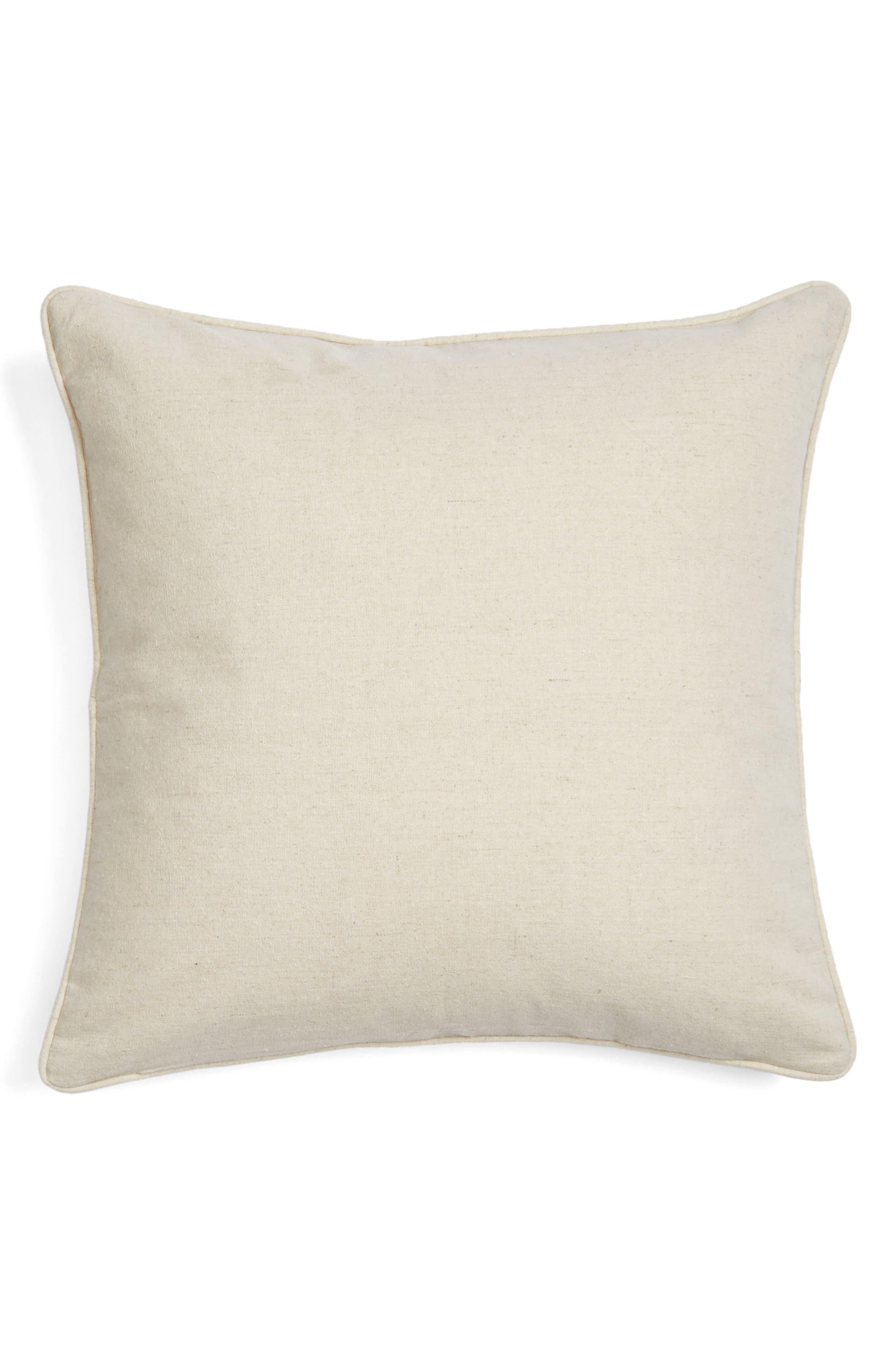 Pinch Mudcloth Pillow,                             Alternate thumbnail 2, color,                             Natural