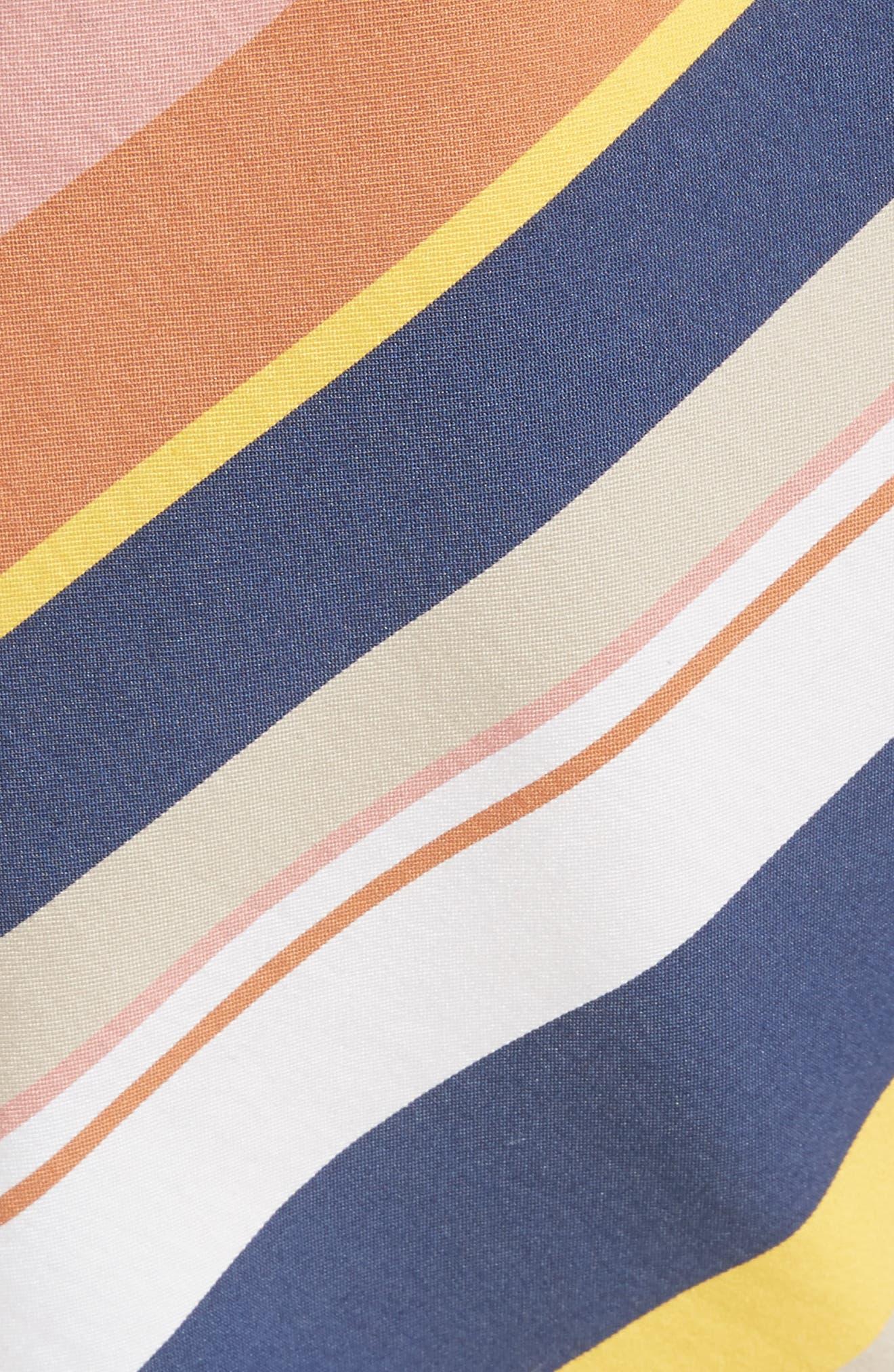 Noemi Stripe Dress,                             Alternate thumbnail 5, color,                             Rust Multi