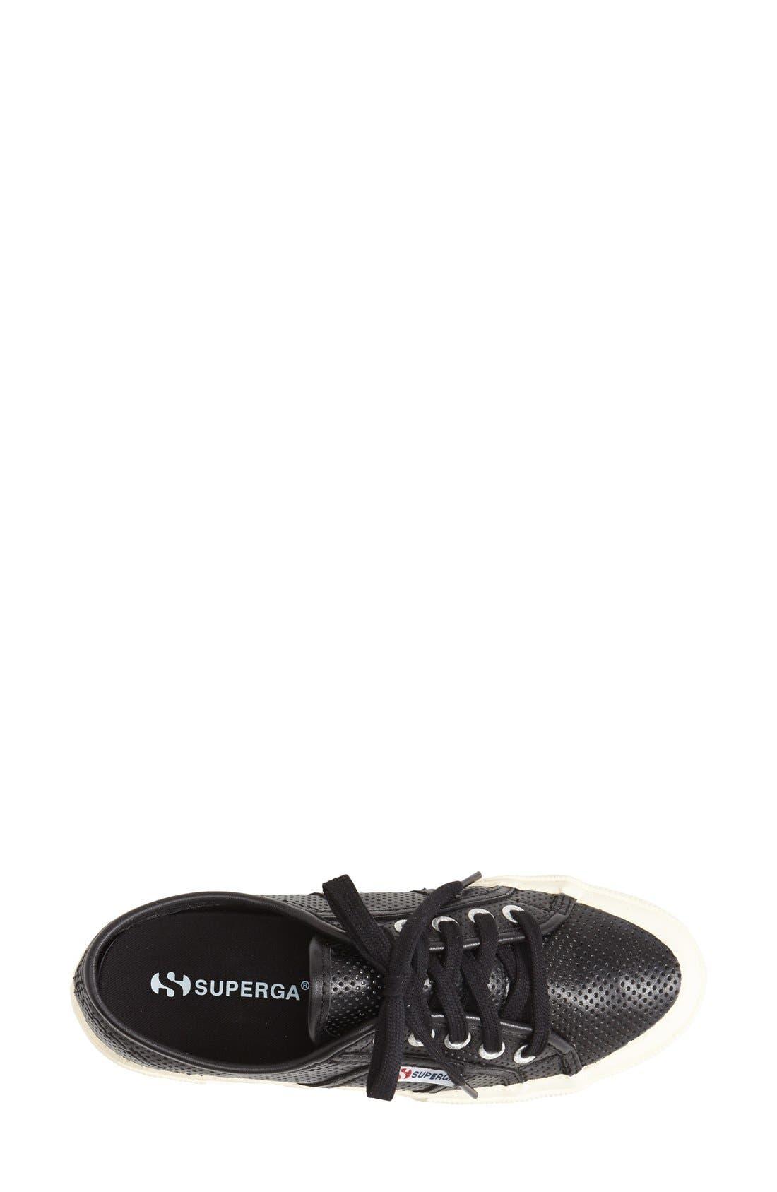 Alternate Image 3  - Superga 'Perforated Cotu' Leather Sneaker (Women)