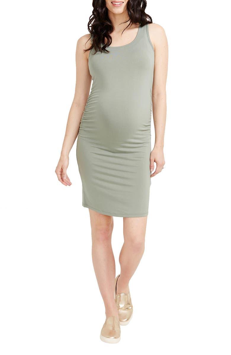 Kimberly Ruched Side Maternity Tank Dress