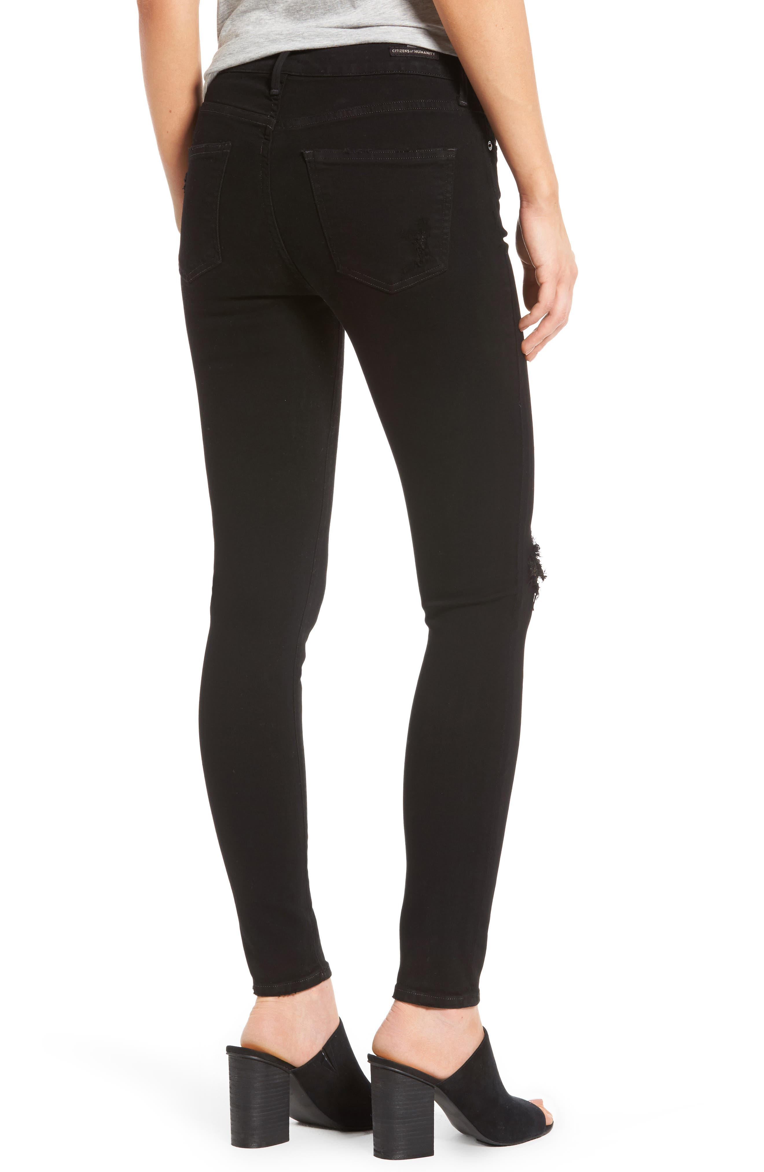Alternate Image 2  - Citizens of Humanity Rocket High Waist Skinny Jeans (Black Echoes)