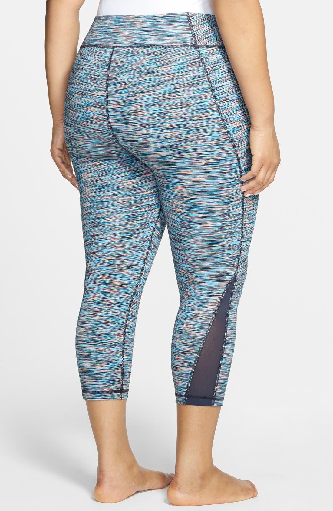 Alternate Image 2  - Zella 'Streamline' Slim Fit Capri Leggings (Plus Size)