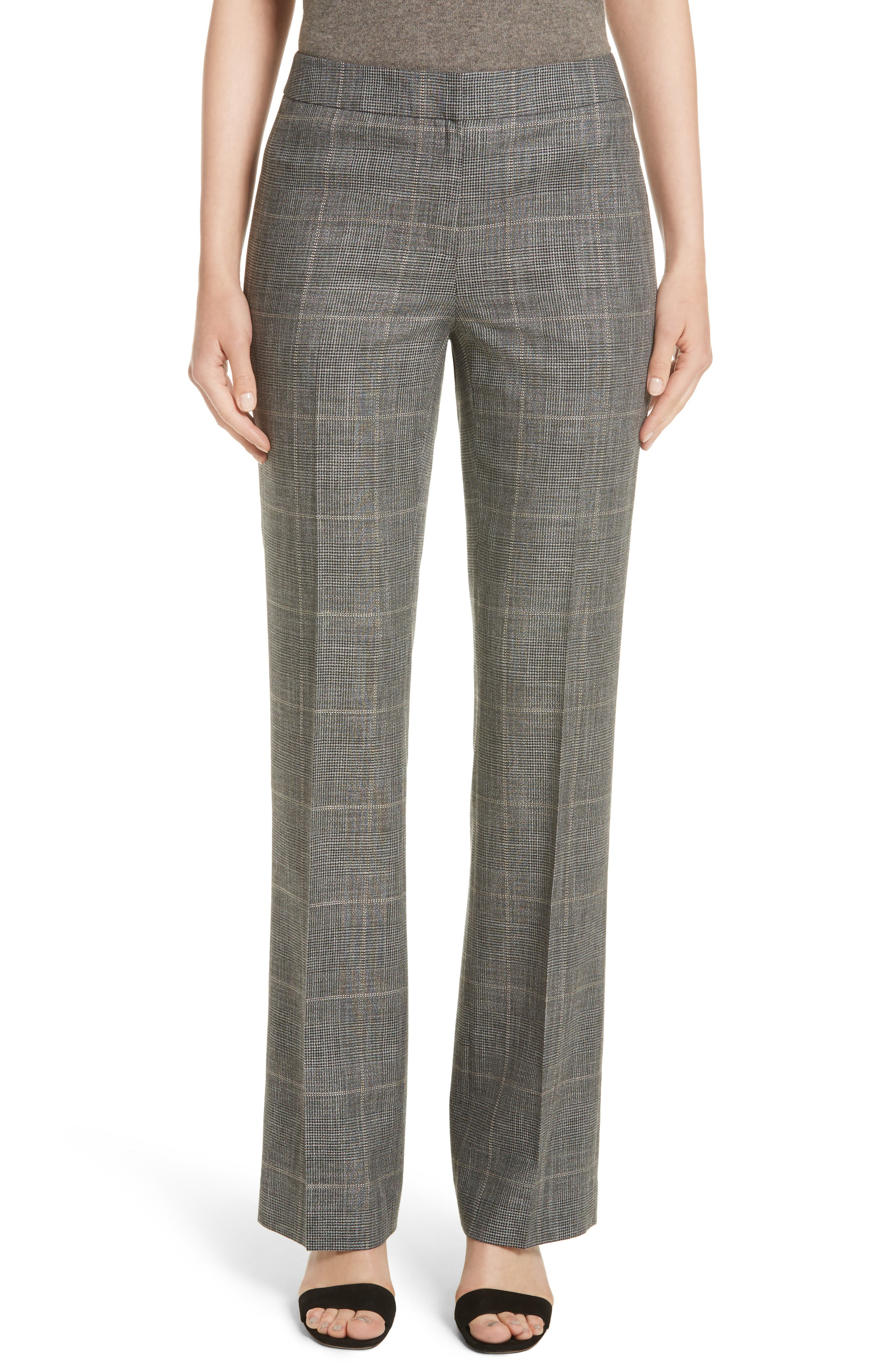 Lafayette 148 New York Antico Plaid Menswear Pants (Nordstrom Exclusive)