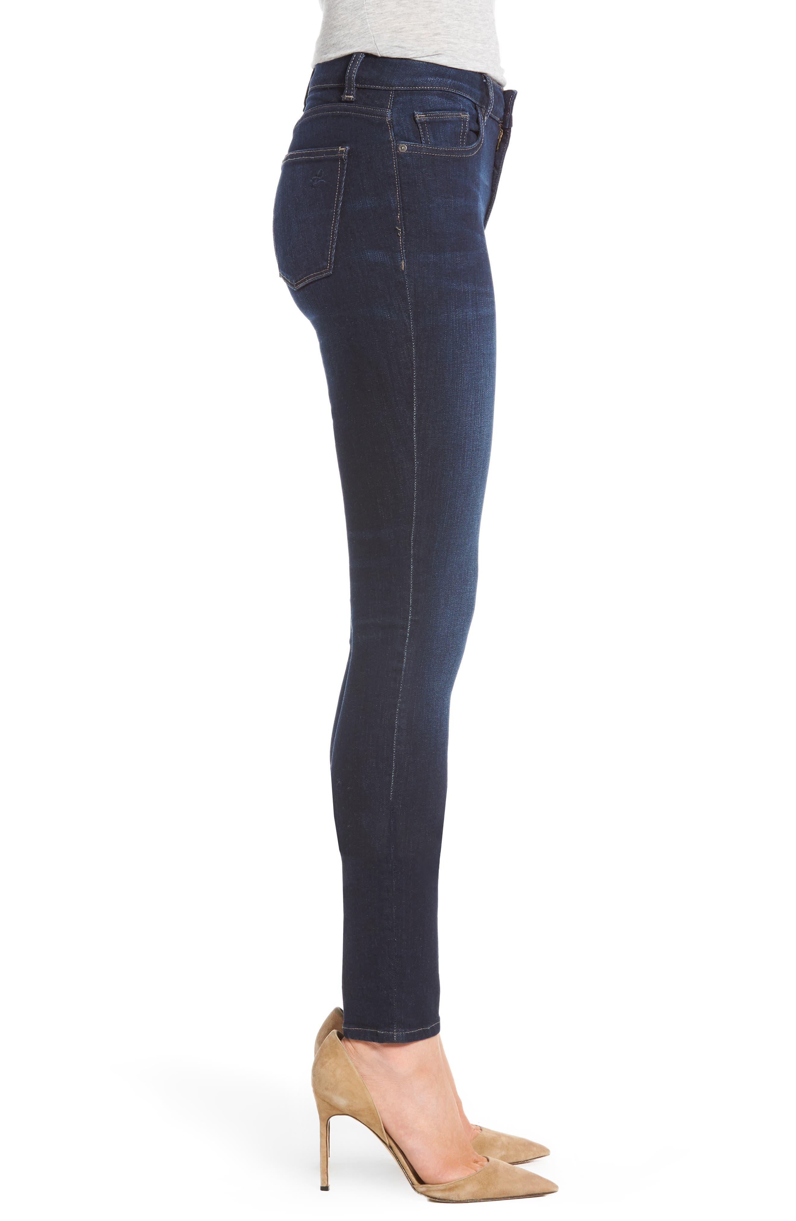 Florence Instasculpt Skinny Jeans,                             Alternate thumbnail 4, color,                             Crux