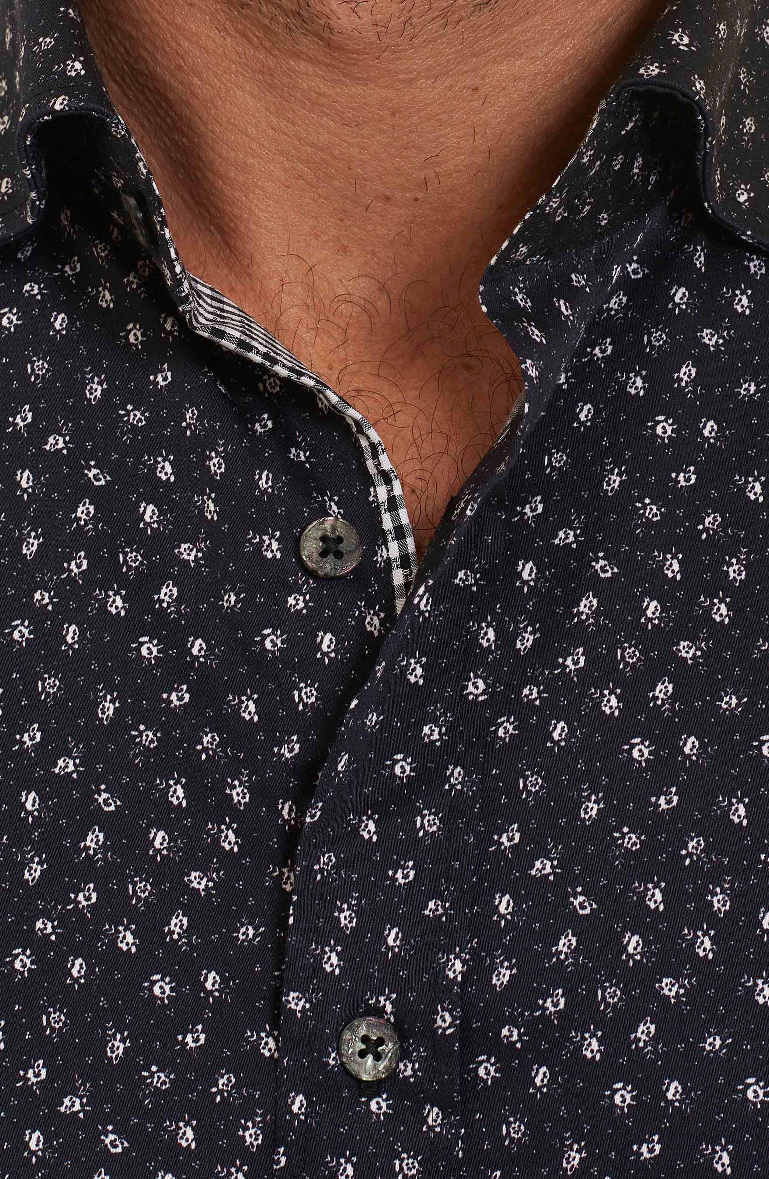 Alternate Image 3  - Robert Graham Miki Tailored Fit Print Short Sleeve Sport Shirt