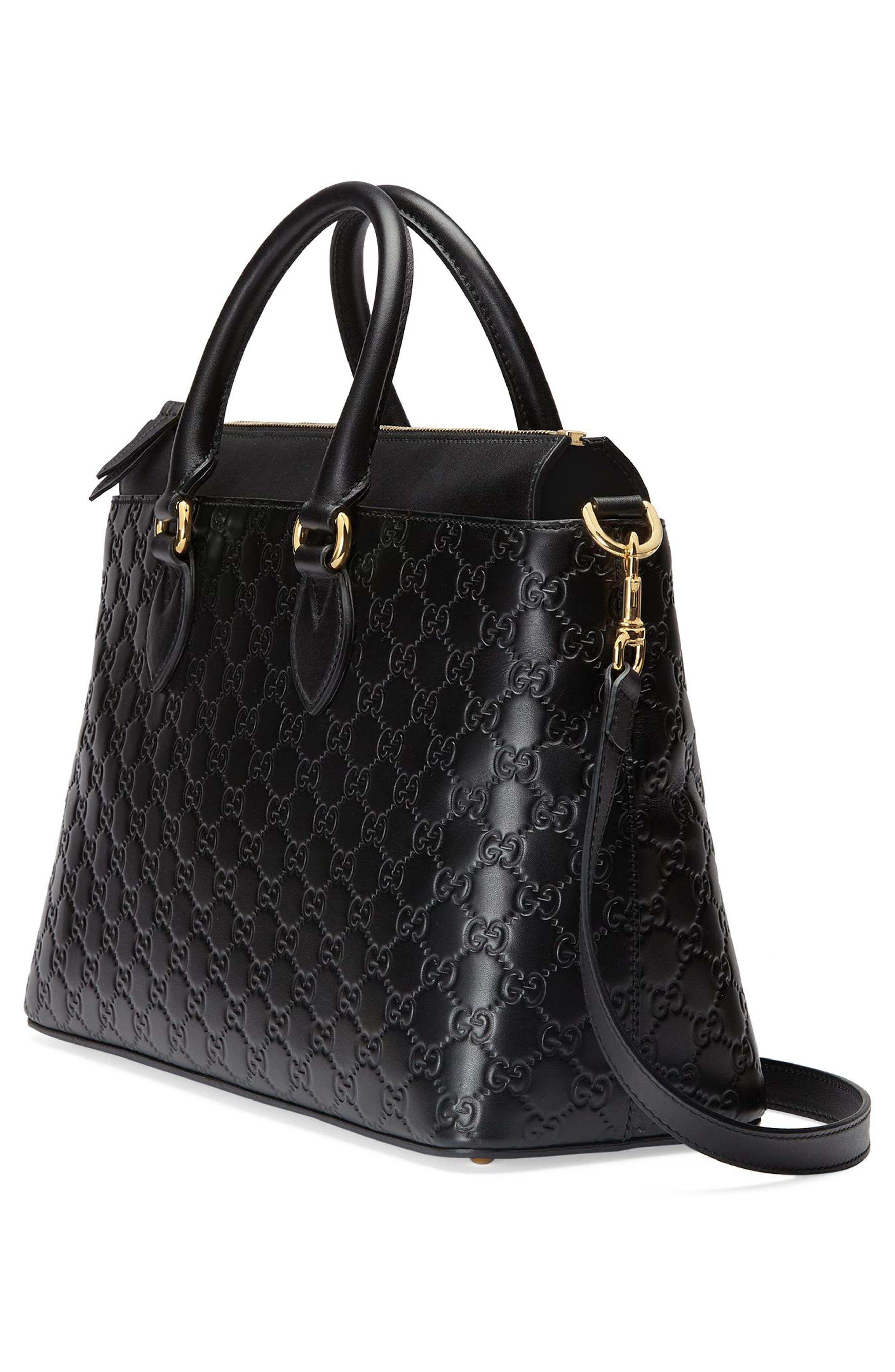 Alternate Image 4  - Gucci Medium Top Handle Signature Leather Tote