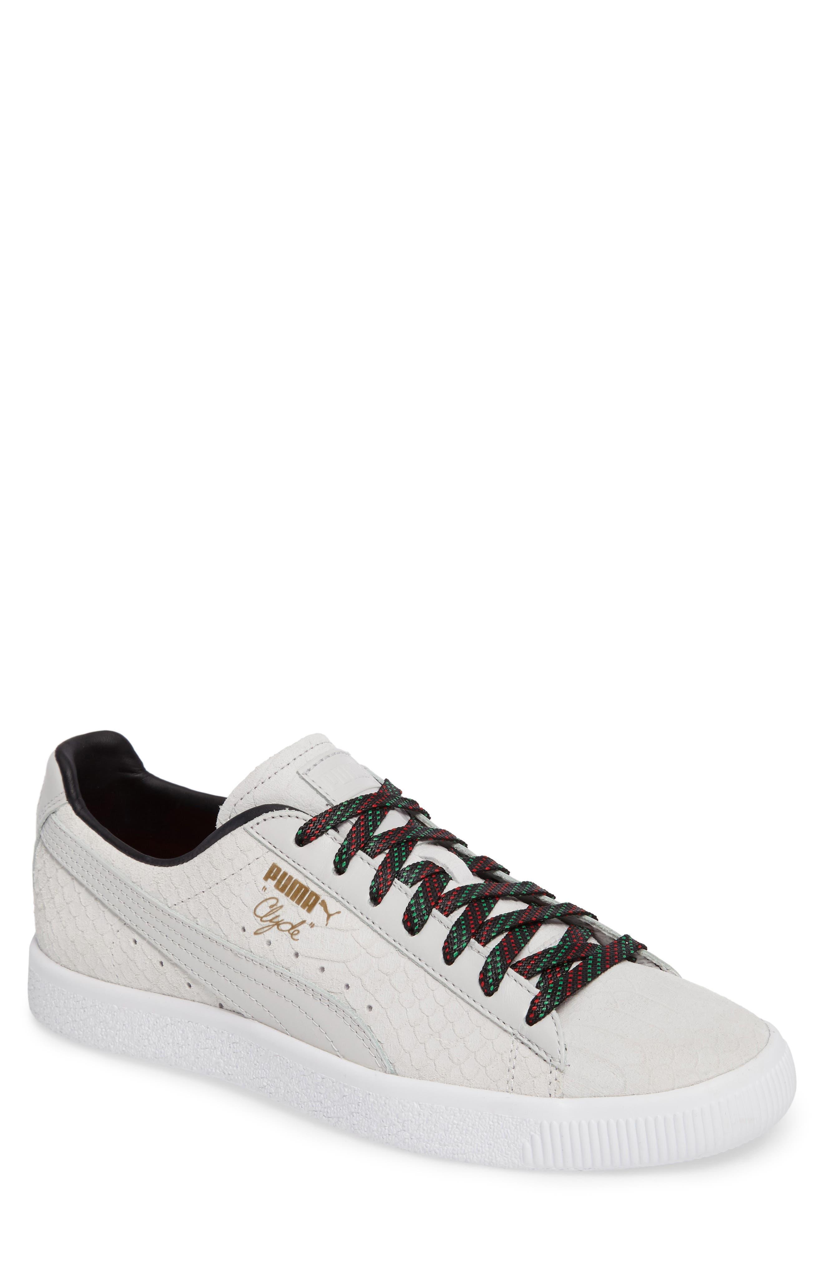 Clyde GCC Sneaker,                         Main,                         color, White/ Puma Black