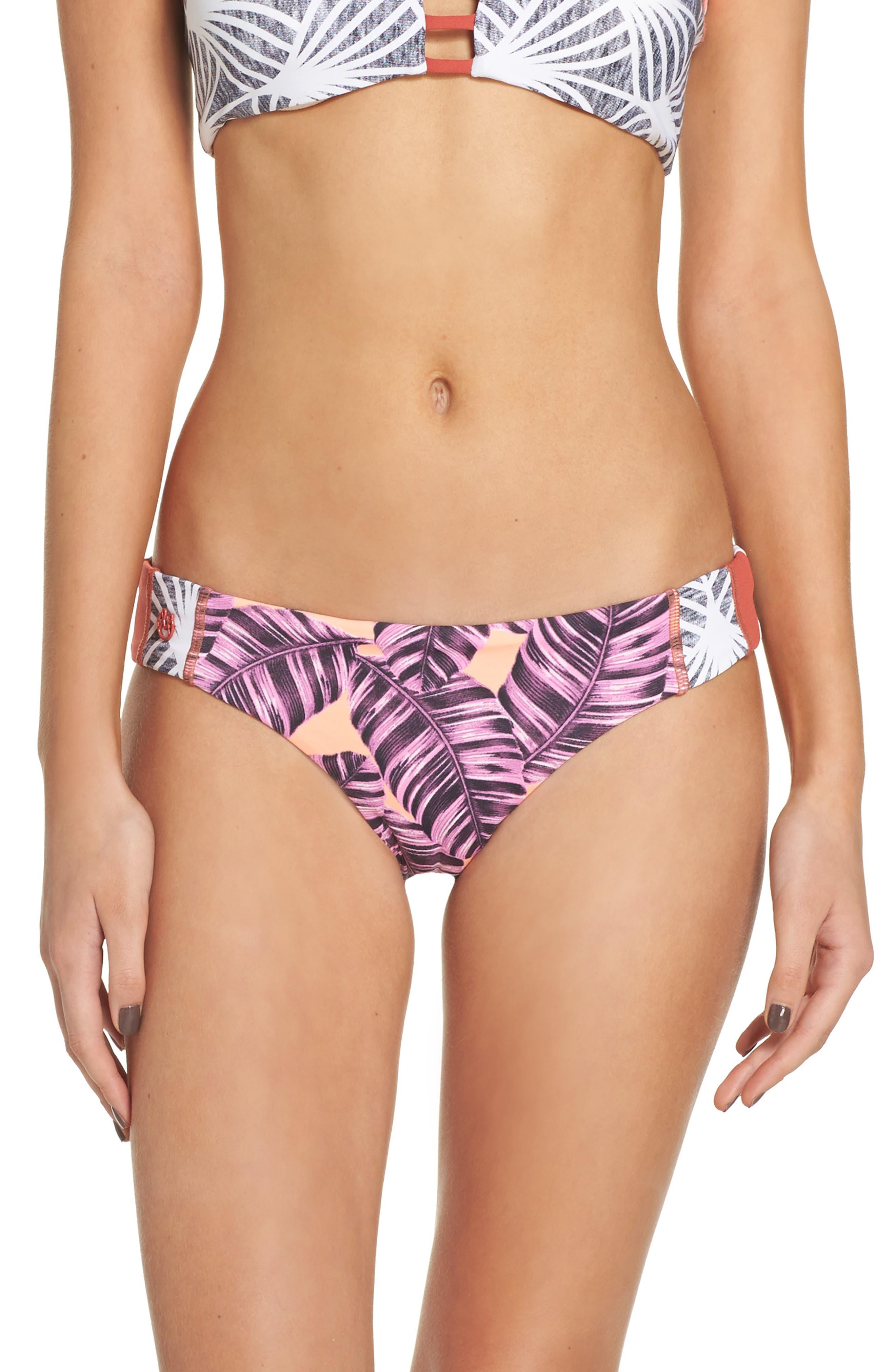 Cinnamon Shells Reversible Bikini Bottoms,                         Main,                         color, Multicolor