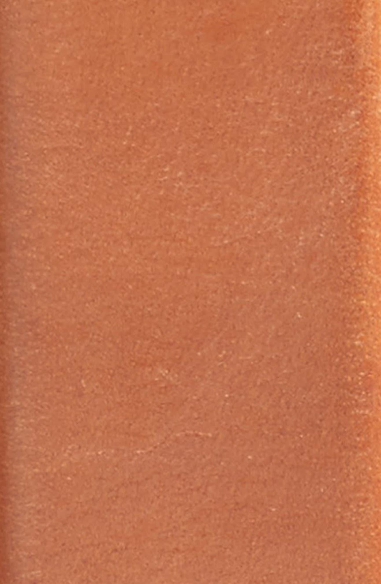Pressed Edge Leather Belt,                             Alternate thumbnail 2, color,                             Woodbury