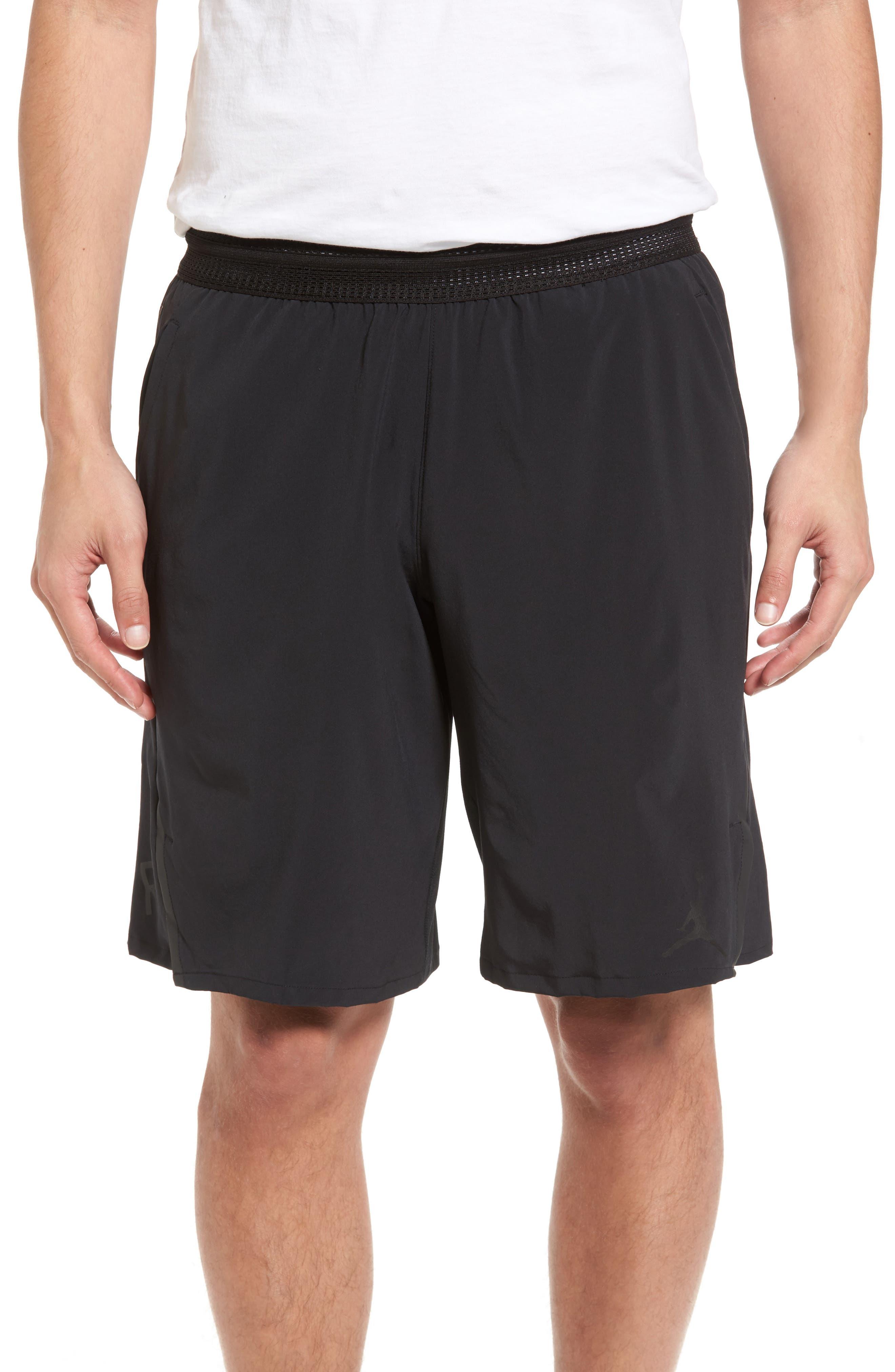 Nike Ultimate Flight Basketball Shorts,                         Main,                         color, Black/ Black