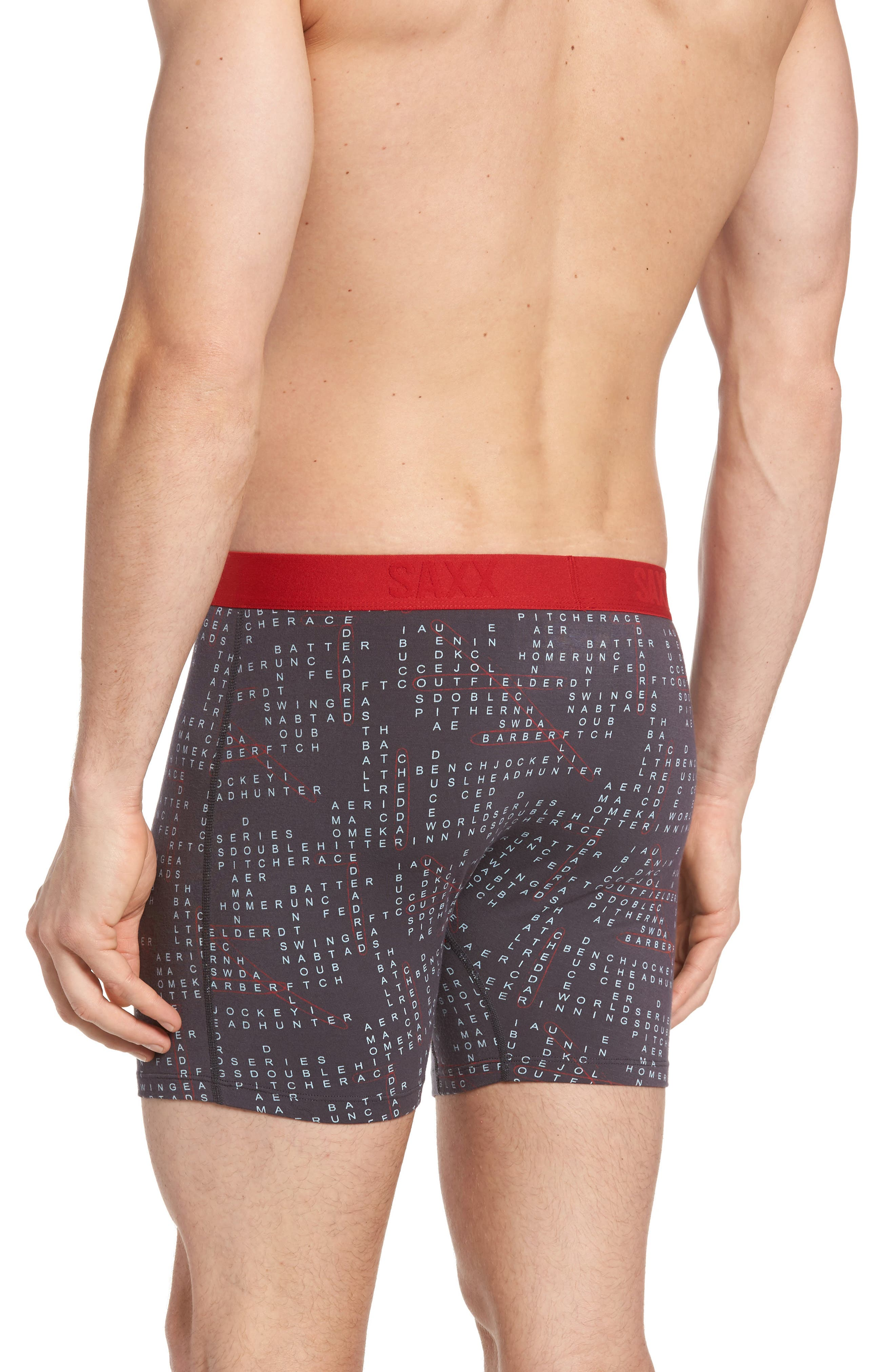Ultra Word Play Stretch Boxer Briefs,                             Alternate thumbnail 2, color,                             Charcoal