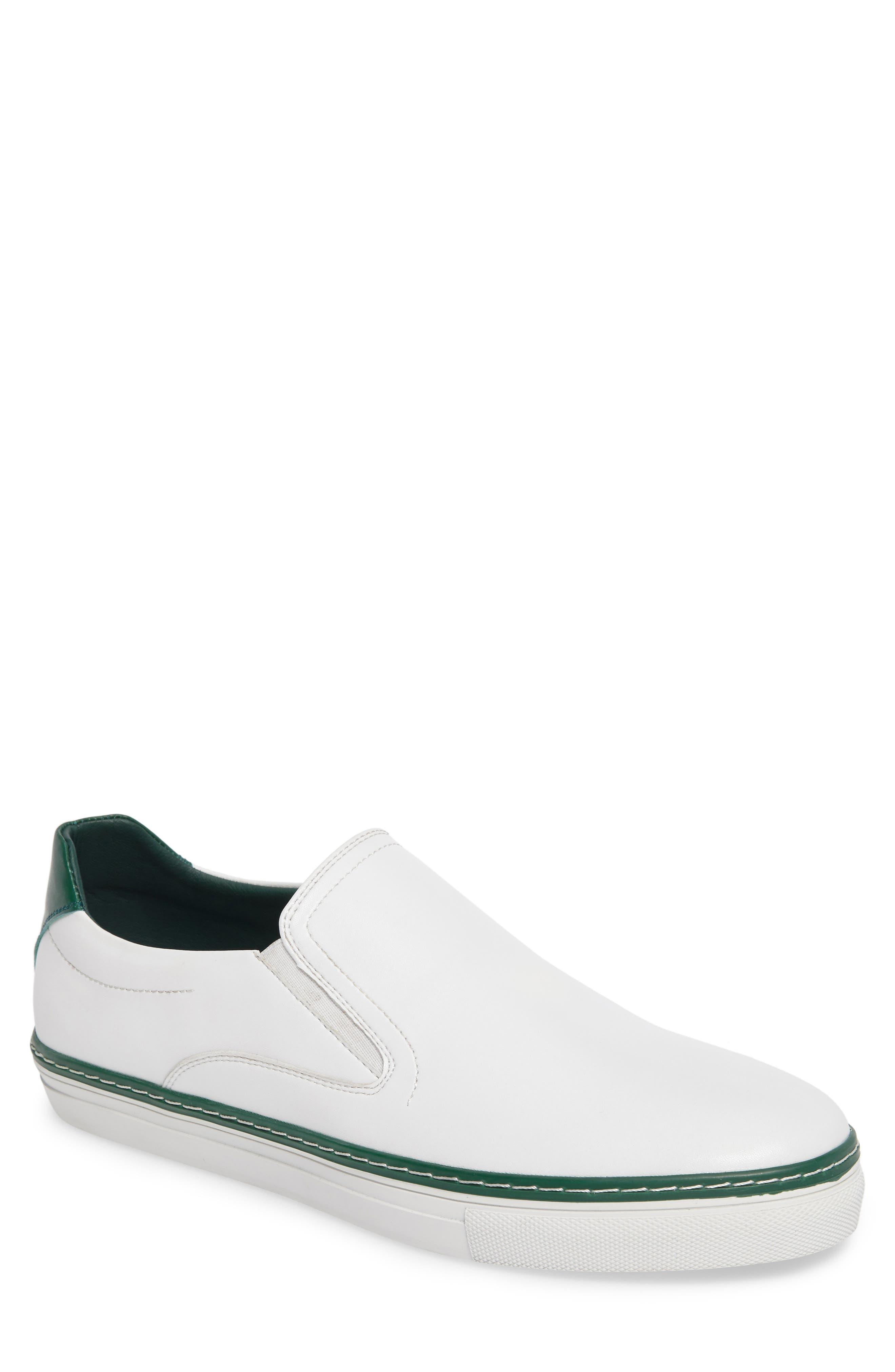 Dollis Slip-On,                             Main thumbnail 1, color,                             White Leather
