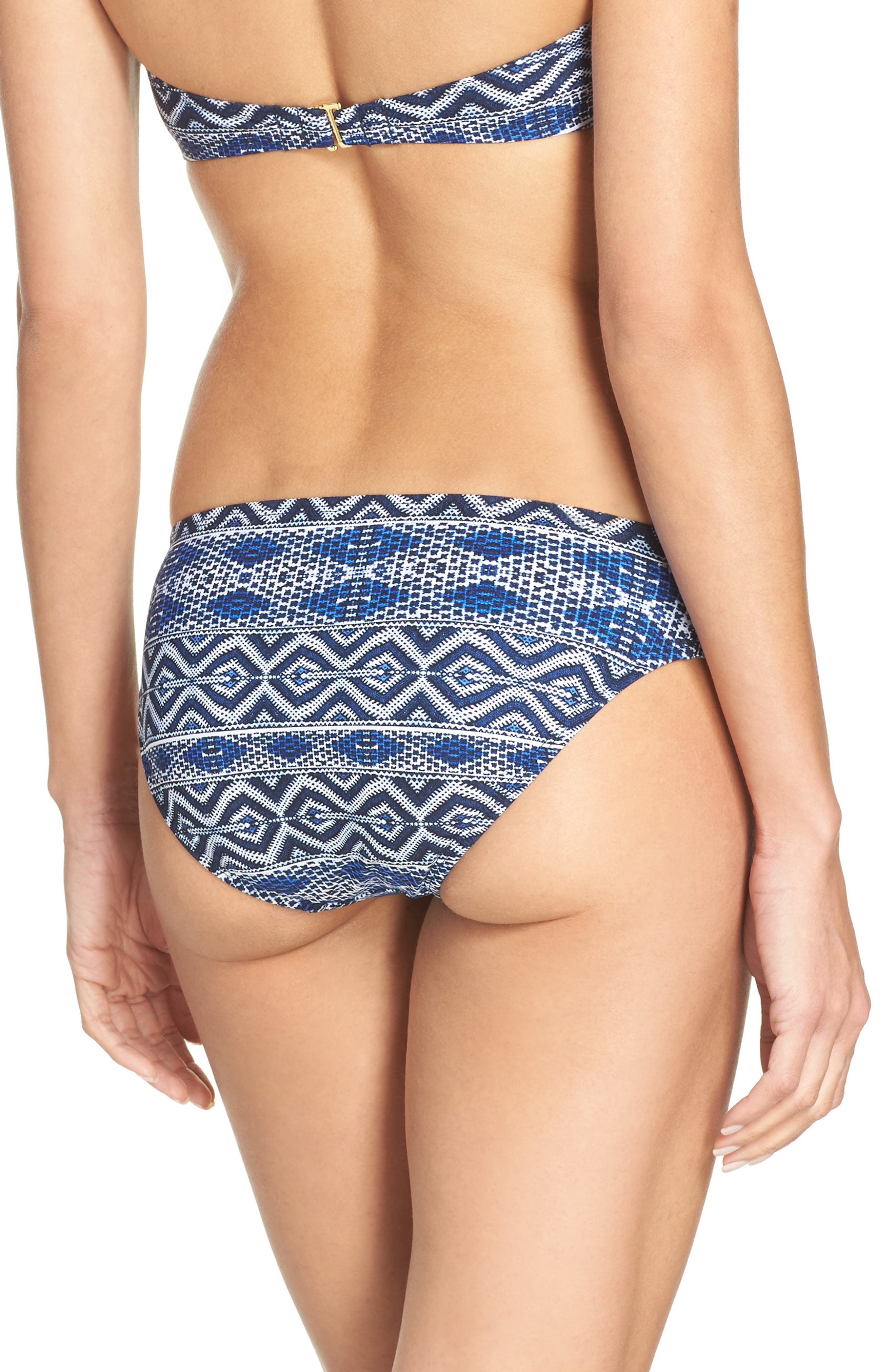 Alternate Image 2  - La Blanca Designer Jeans Hipster Bikini Bottoms