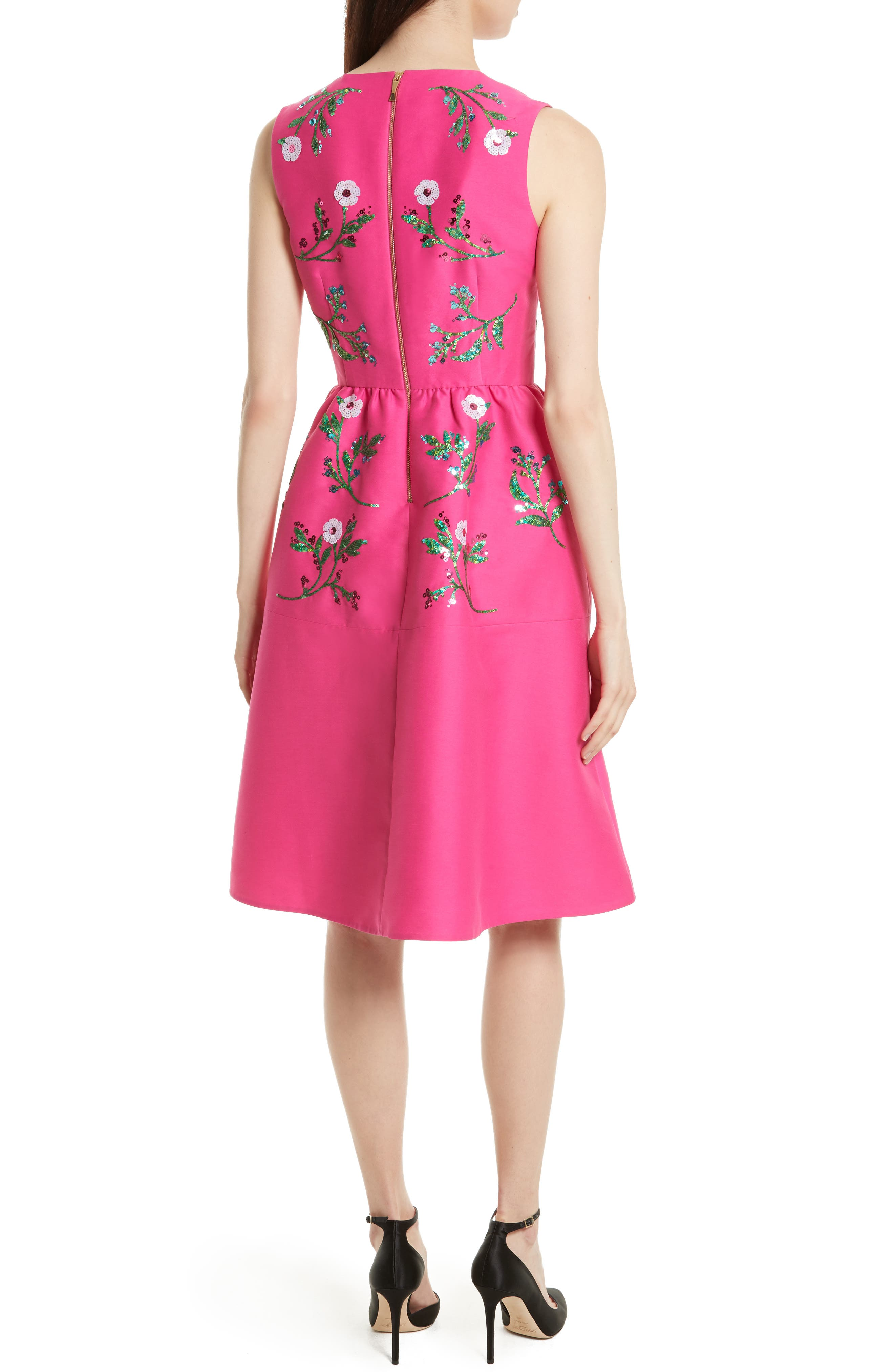 Alternate Image 2  - kate spade new york floral embellished fit & flare dress