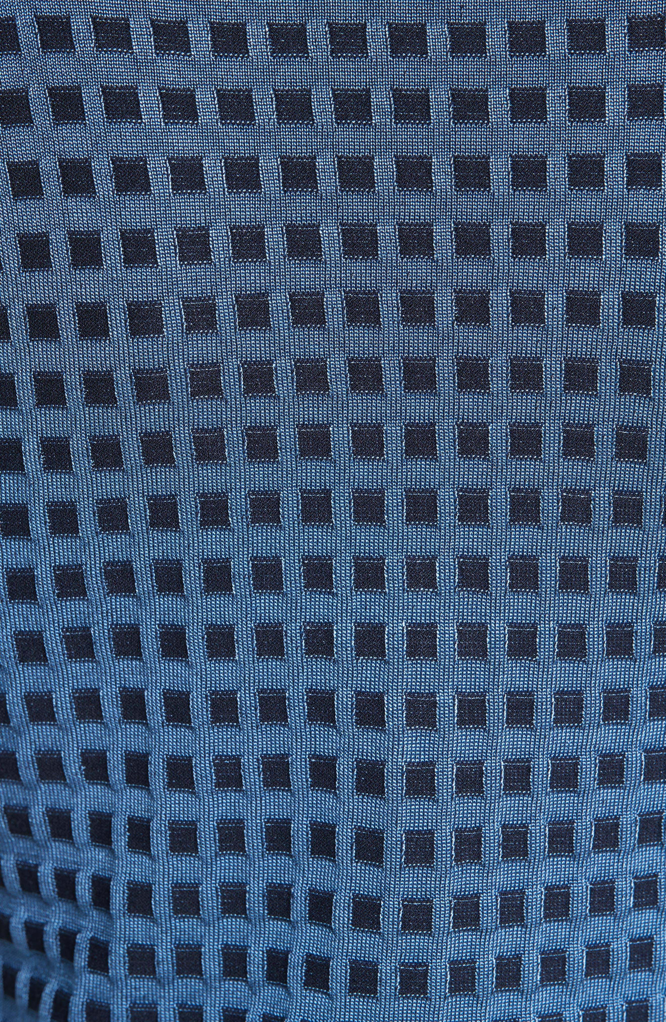 Banded V-Neck Sweater,                             Alternate thumbnail 5, color,                             Denim/ Navy/ Powder