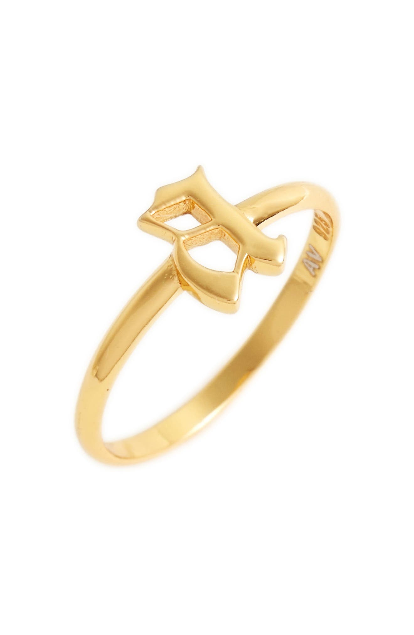 Gothic Initial Ring,                             Main thumbnail 1, color,                             A/ Gold