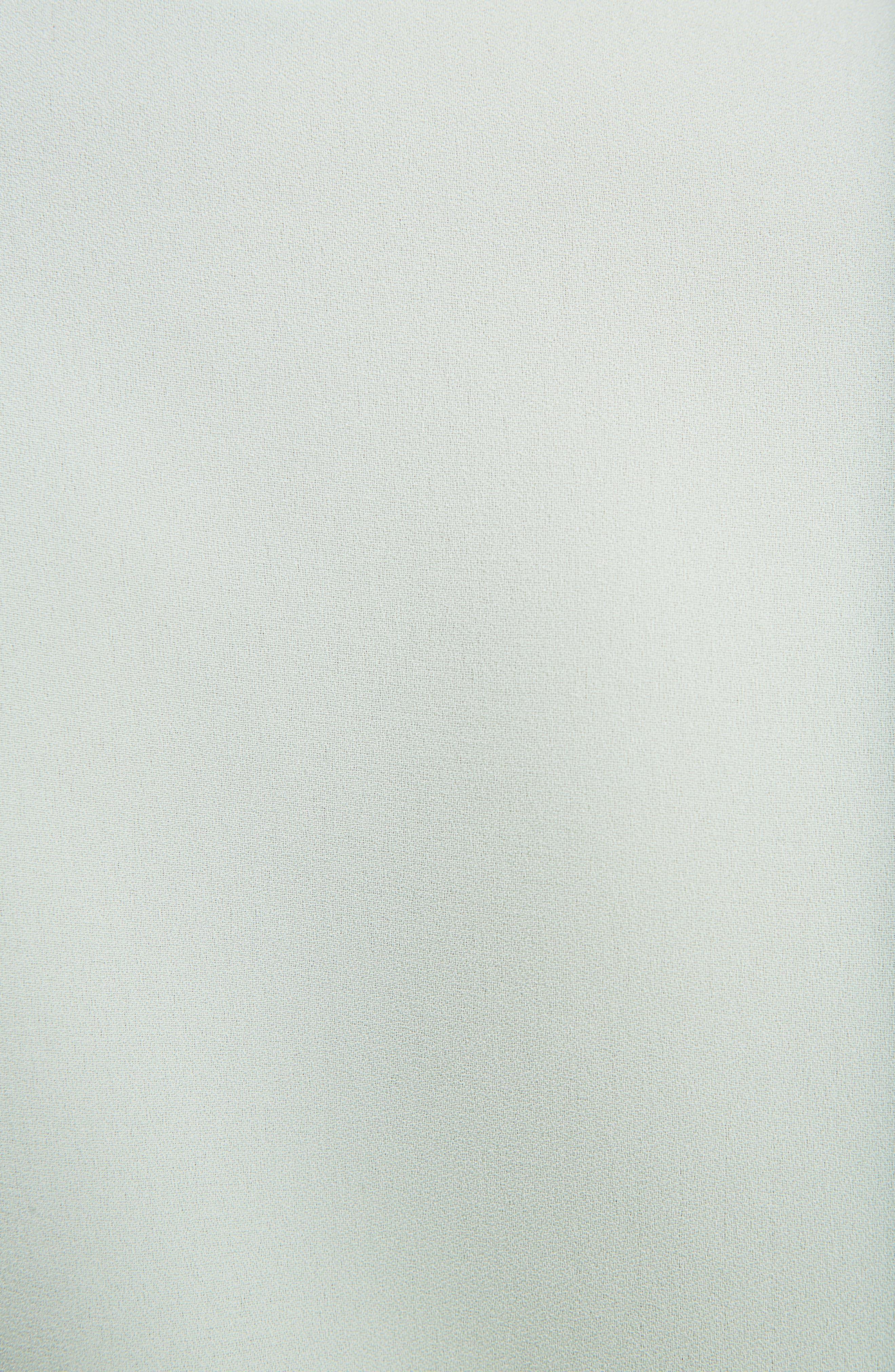 Georgette Satin Shirt,                             Alternate thumbnail 5, color,                             Light Green