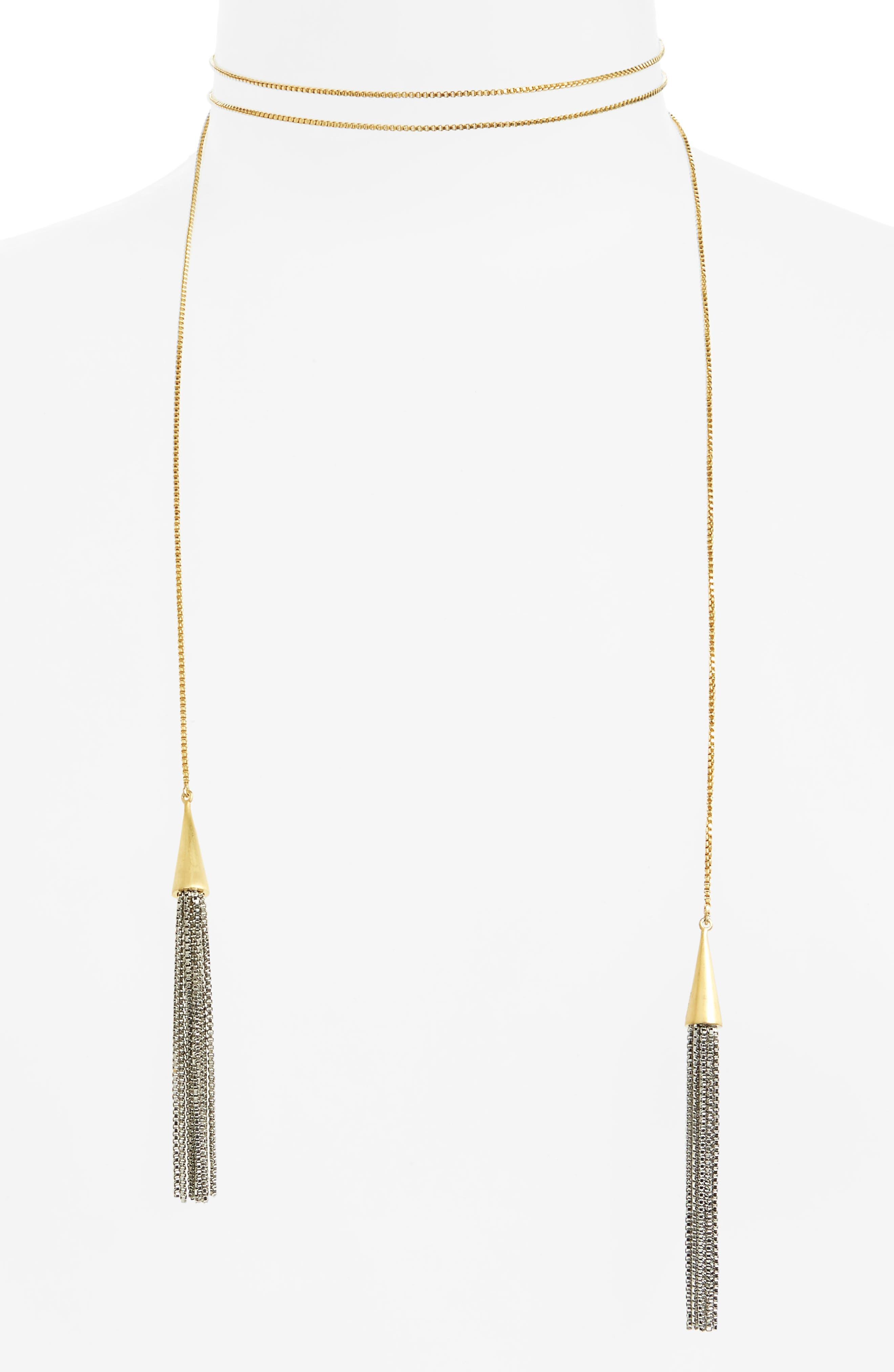 DEAN DAVIDSON Tassel Lariat Necklace