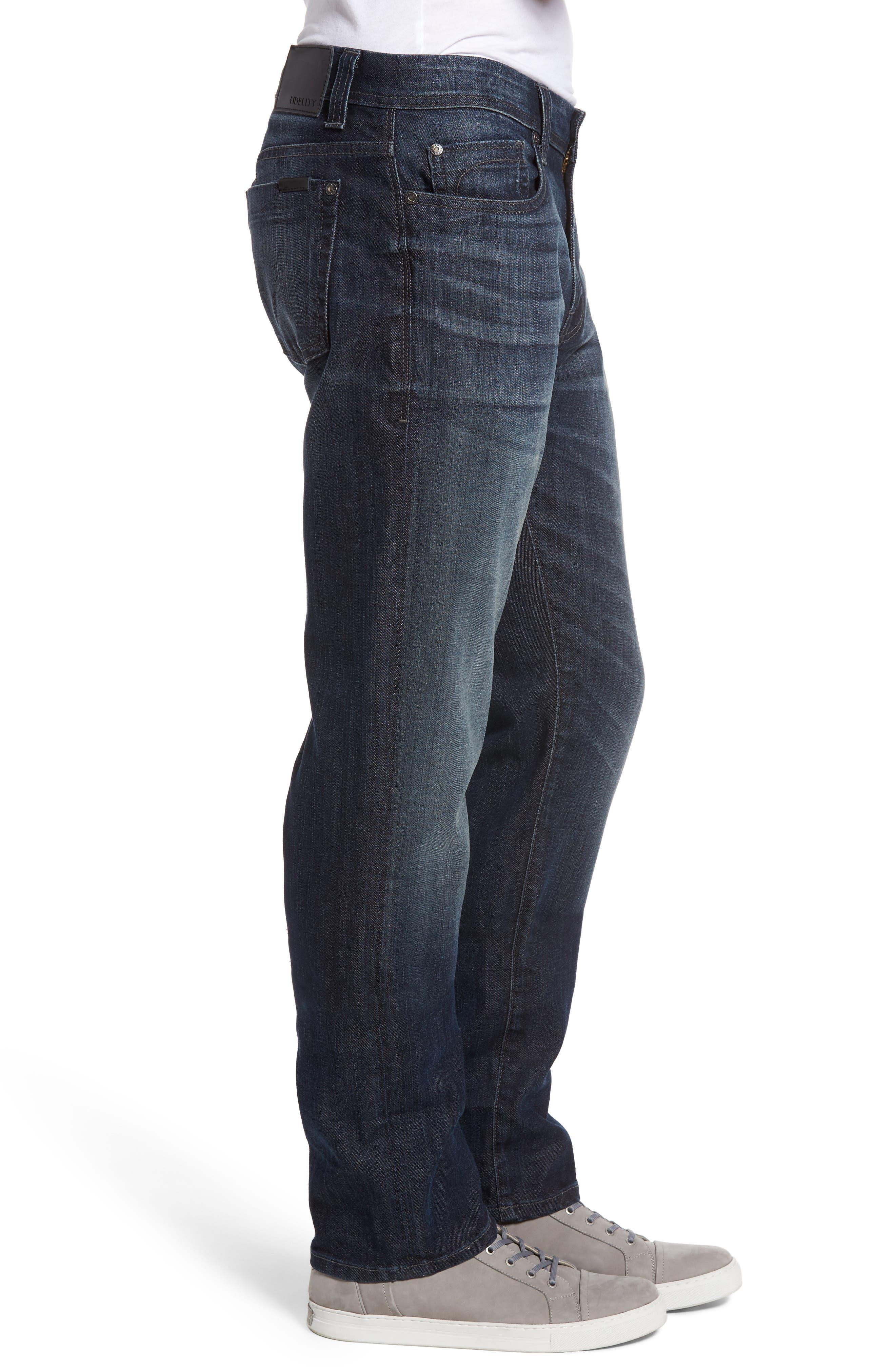 Jimmy Slim Straight Leg Jeans,                             Alternate thumbnail 3, color,                             Scorpion