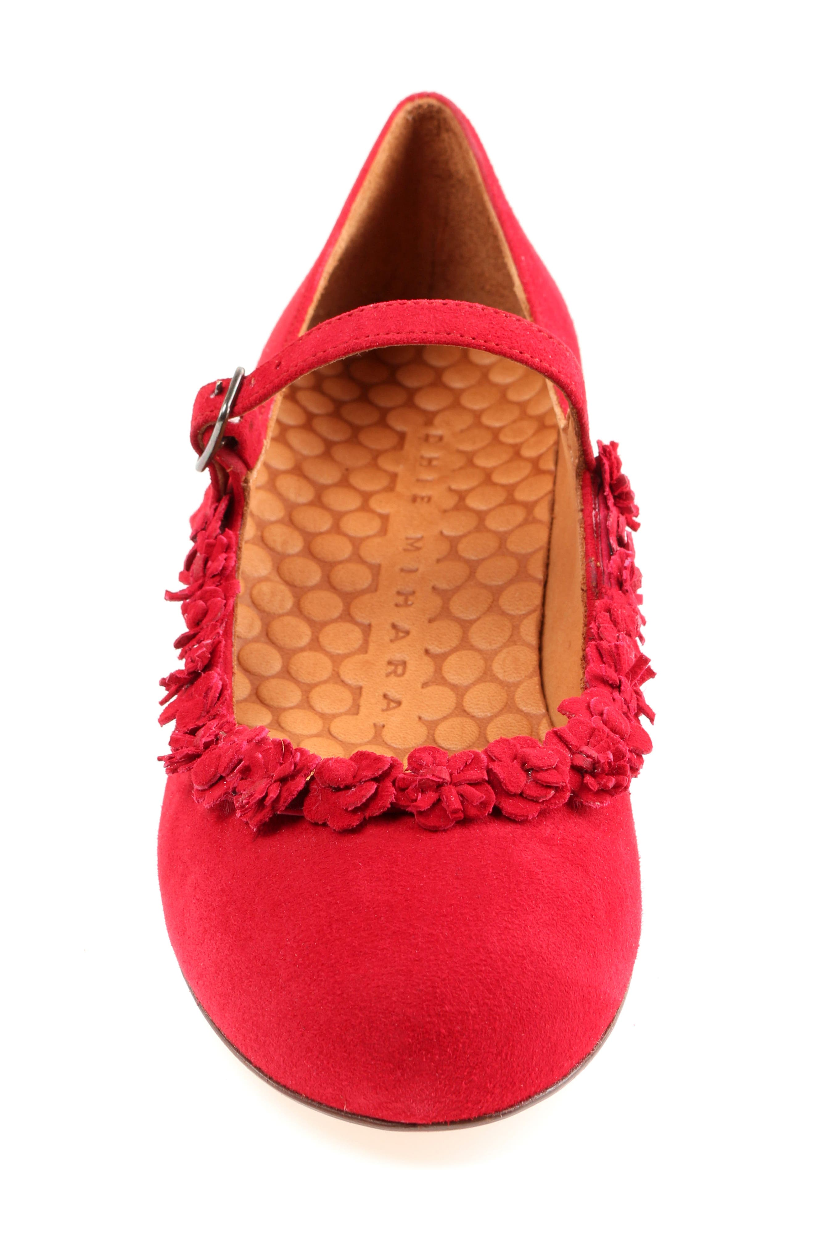 Rizo Mary Jane Flat,                             Alternate thumbnail 4, color,                             Red