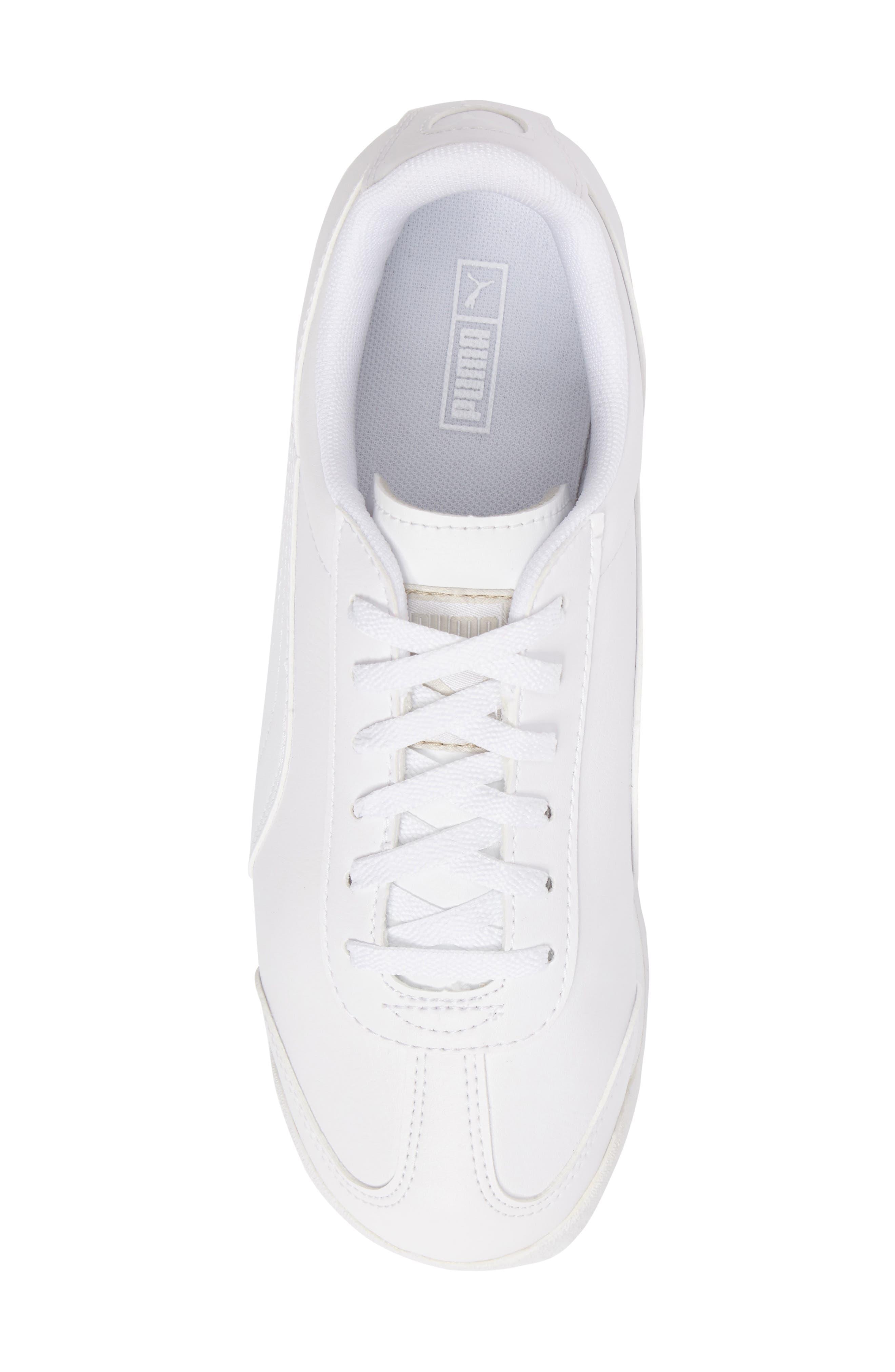 Roma Basic Sneaker,                             Alternate thumbnail 5, color,                             White/ Light Grey