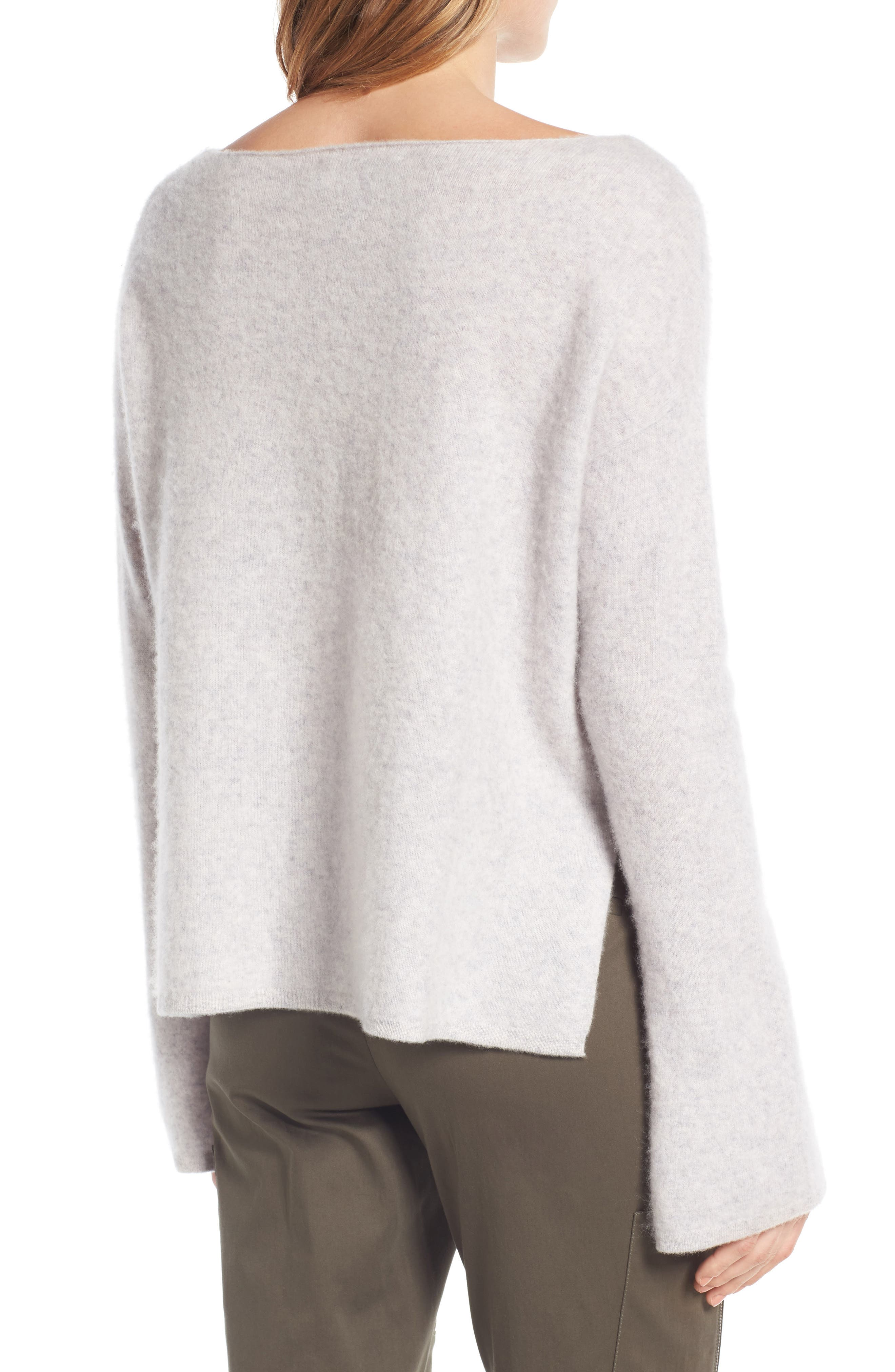 Boiled Cashmere Pullover,                             Alternate thumbnail 3, color,                             Grey Clay Heather