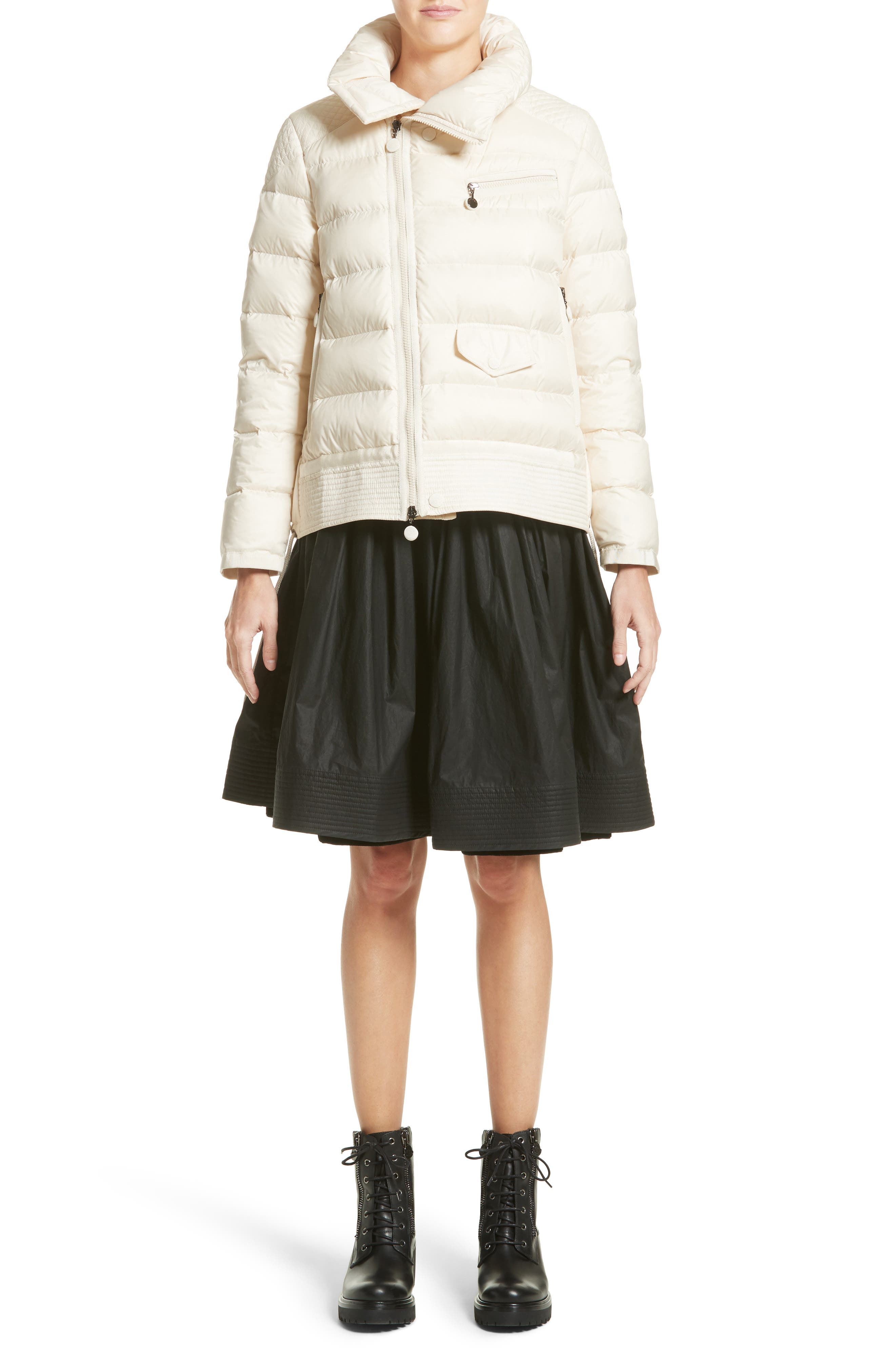 Margaret Down Puffer Jacket,                             Alternate thumbnail 8, color,                             Cream