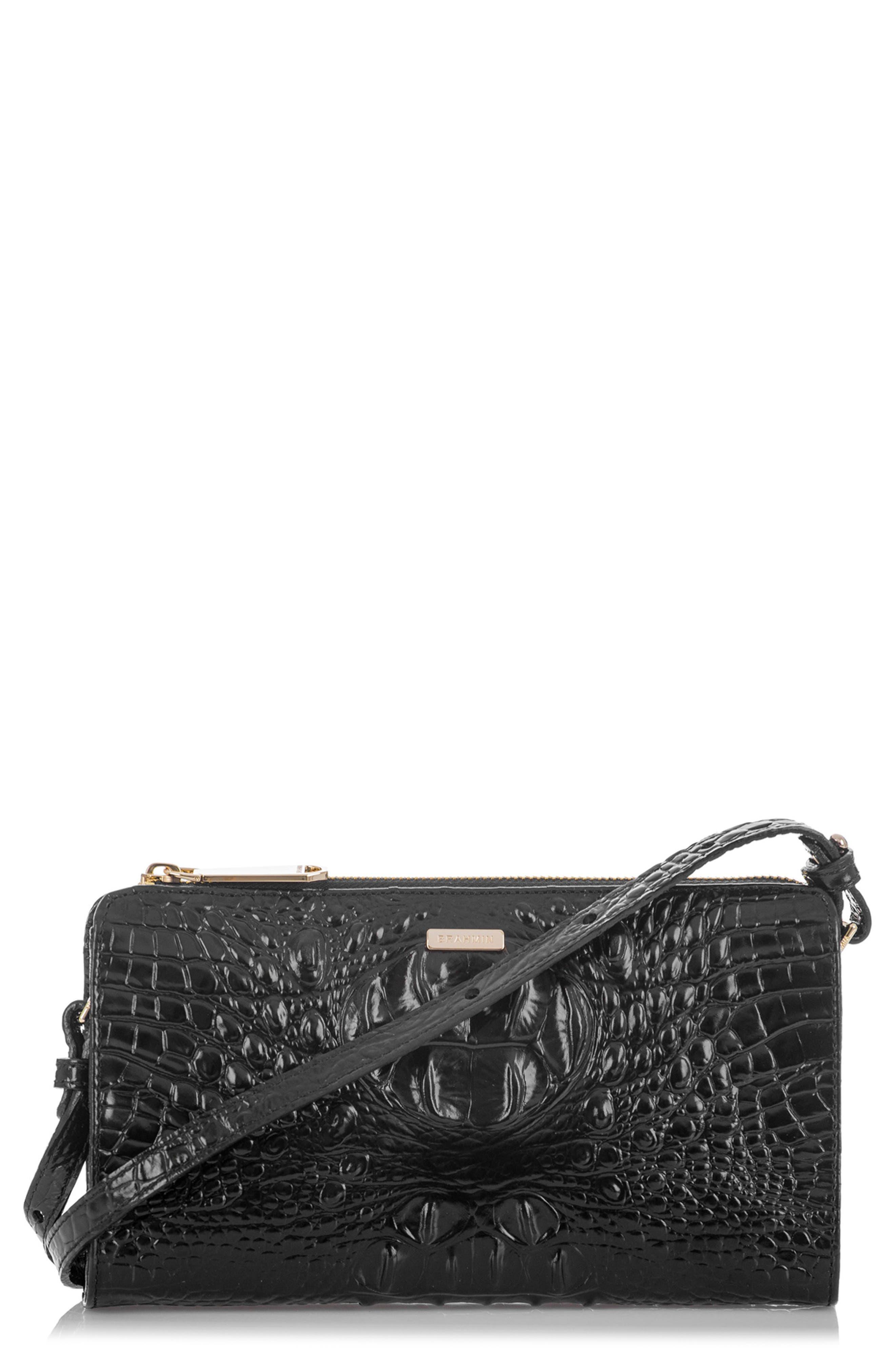 Sienna Leather Crossbody Bag,                             Main thumbnail 1, color,                             Black