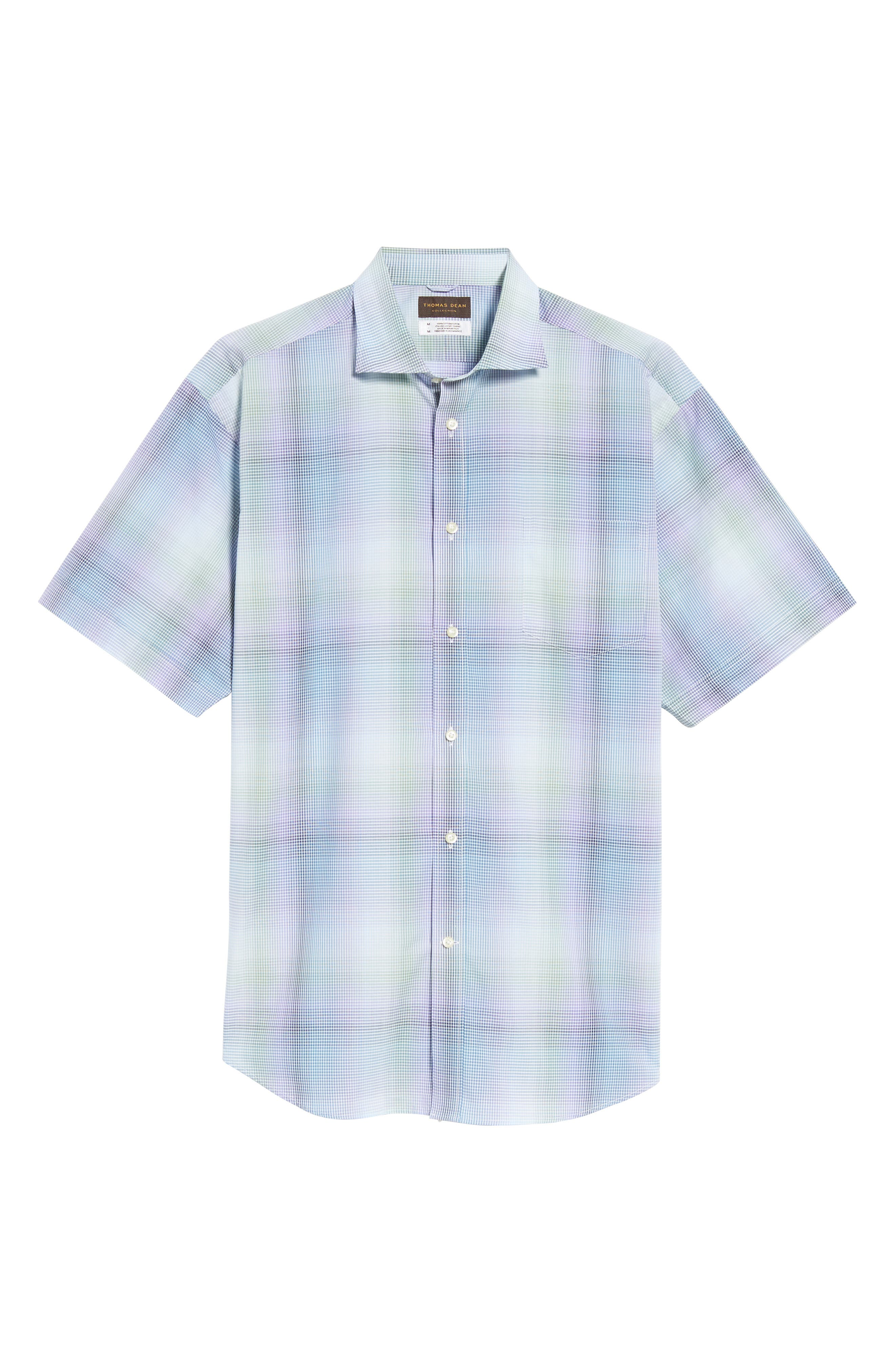 Alternate Image 6  - Thomas Dean Classic Fit Shadow Check Sport Shirt