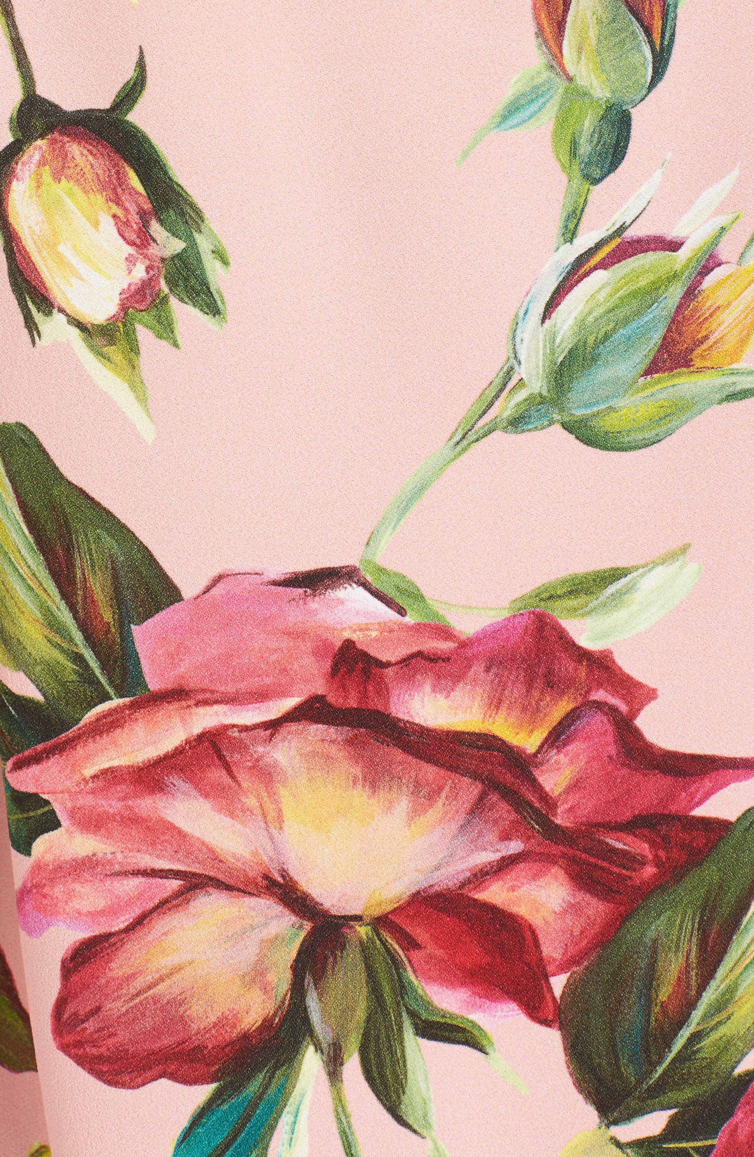 Alternate Image 3  - Dolce&Gabbana Rose Print Cady Blouse