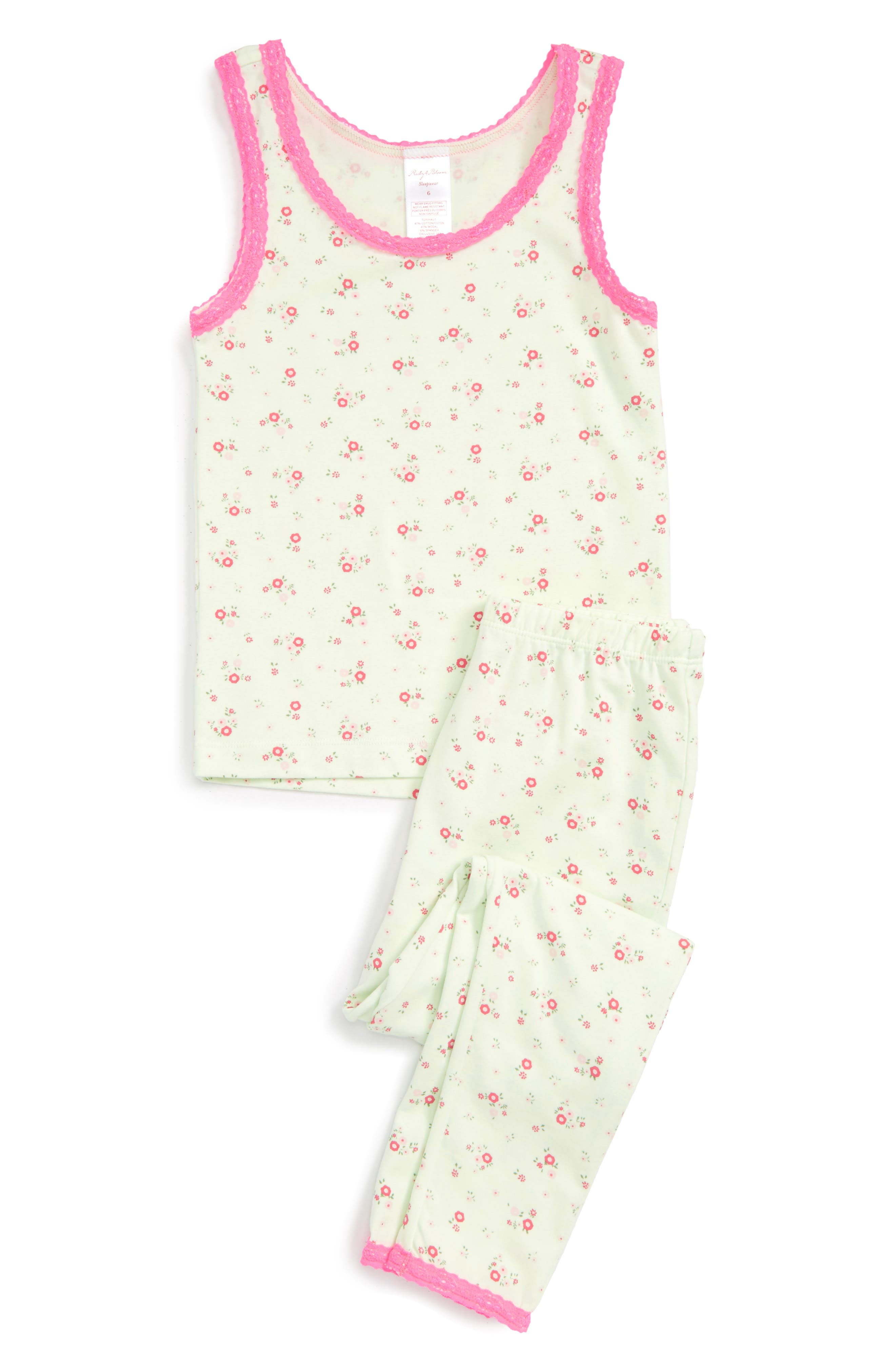 Alternate Image 1 Selected - Ruby & Bloom Fitted Two-Piece Pajamas (Toddler Girls, Little Girls & Big Girls)