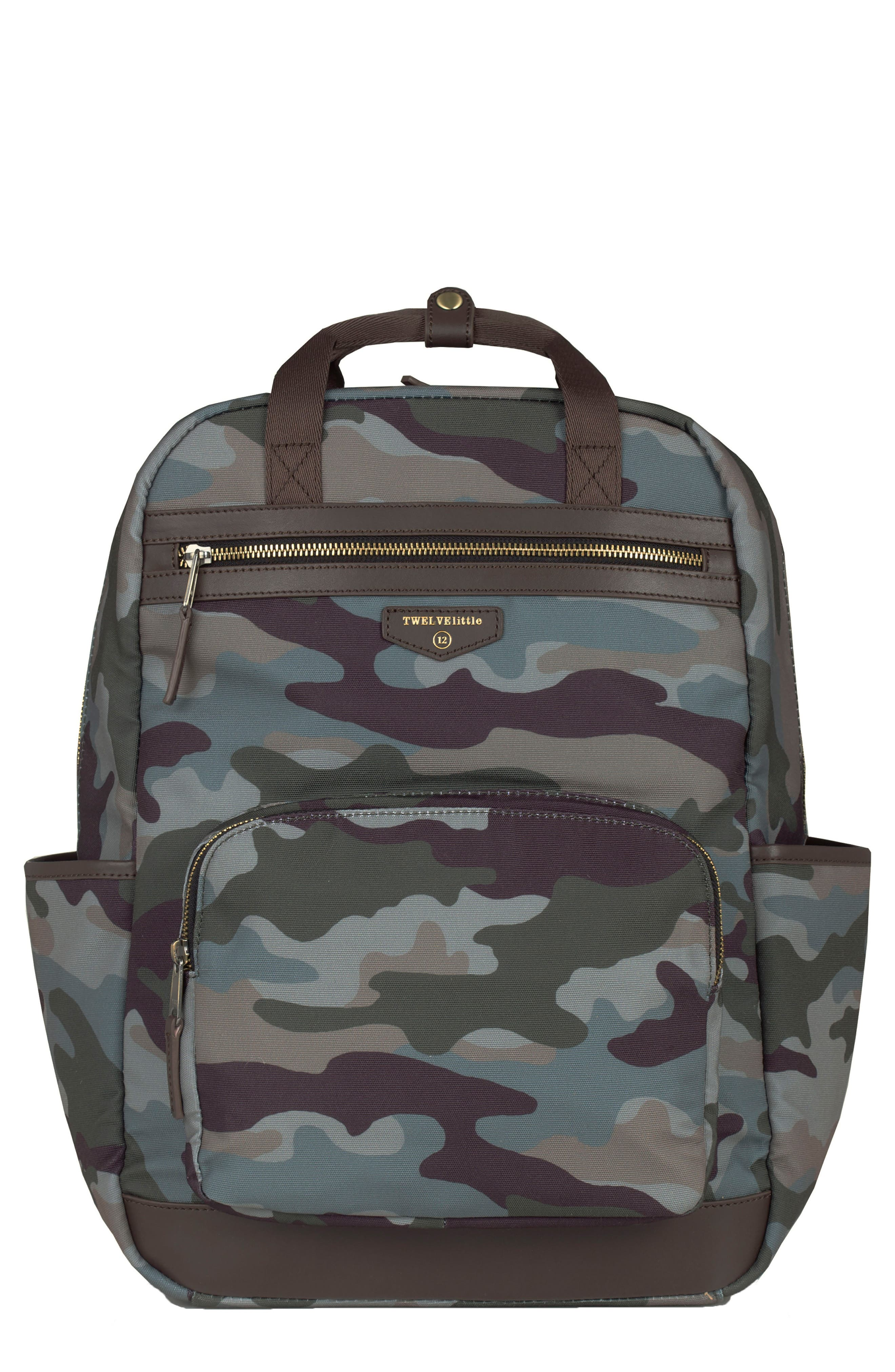 'Courage' Unisex Backpack Diaper Bag,                         Main,                         color, Camouflage Print