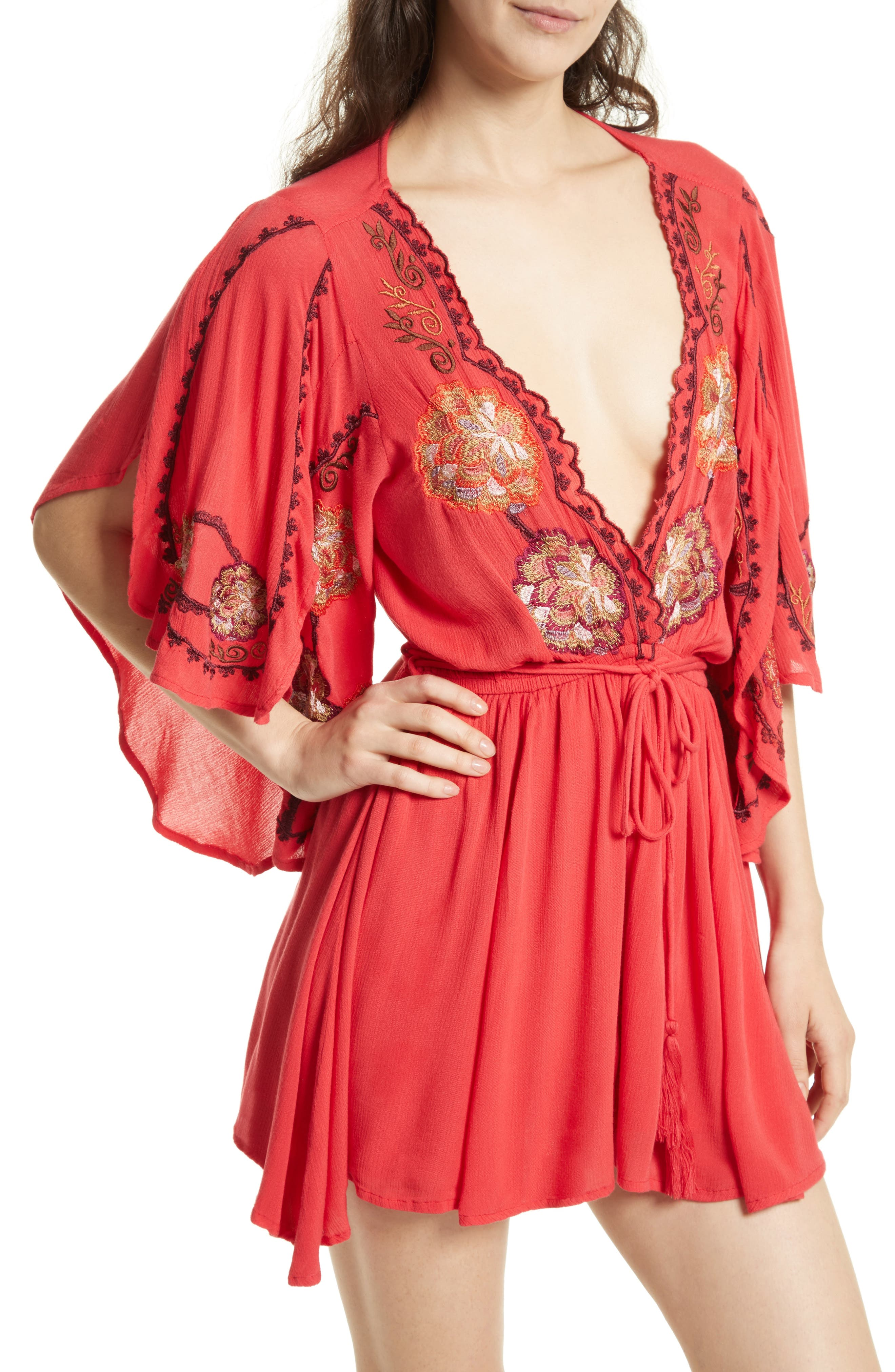 Alternate Image 4  - Free People Cora Embroidered Minidress