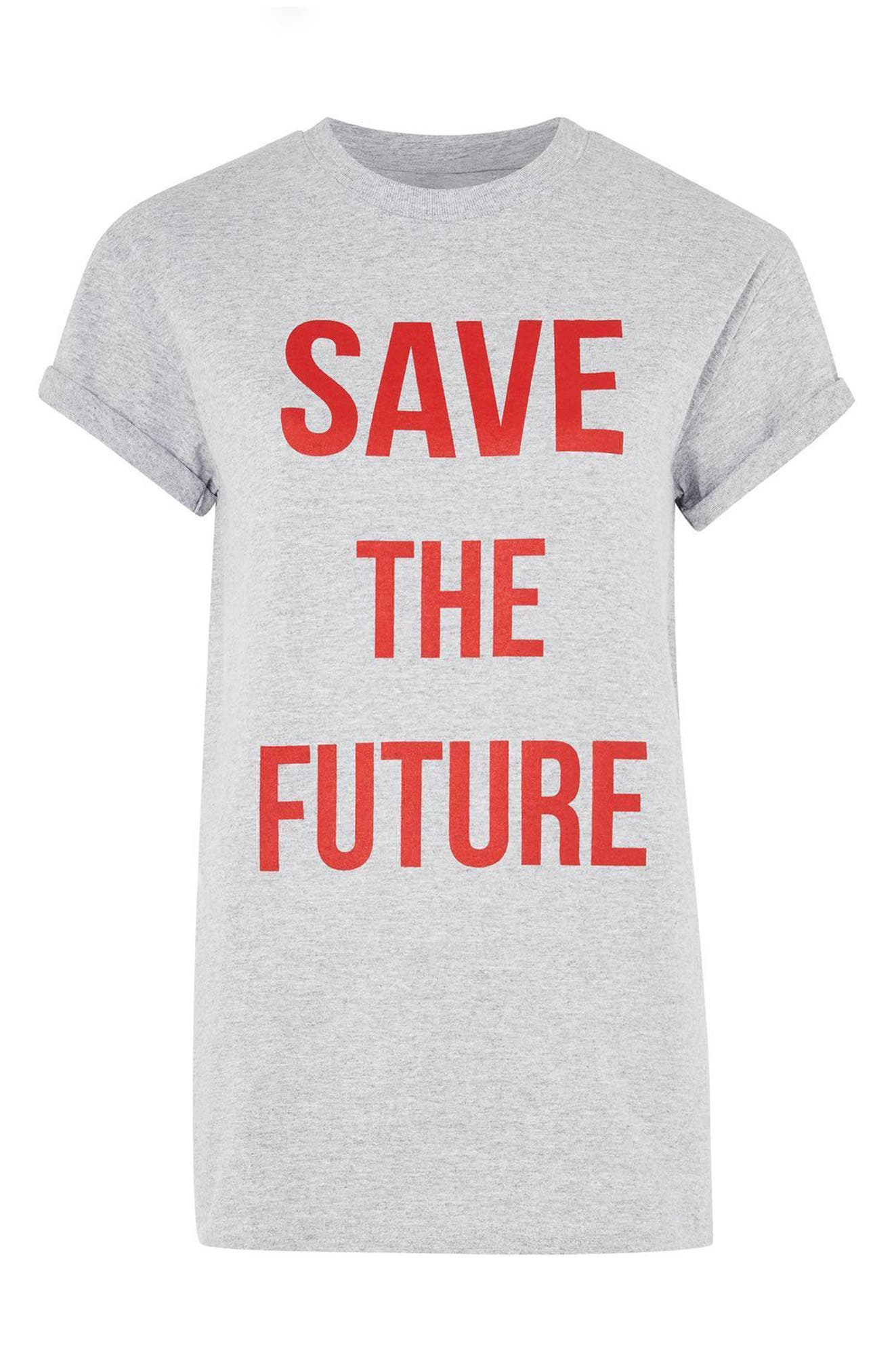 Alternate Image 4  - Topshop Save the Future Tee