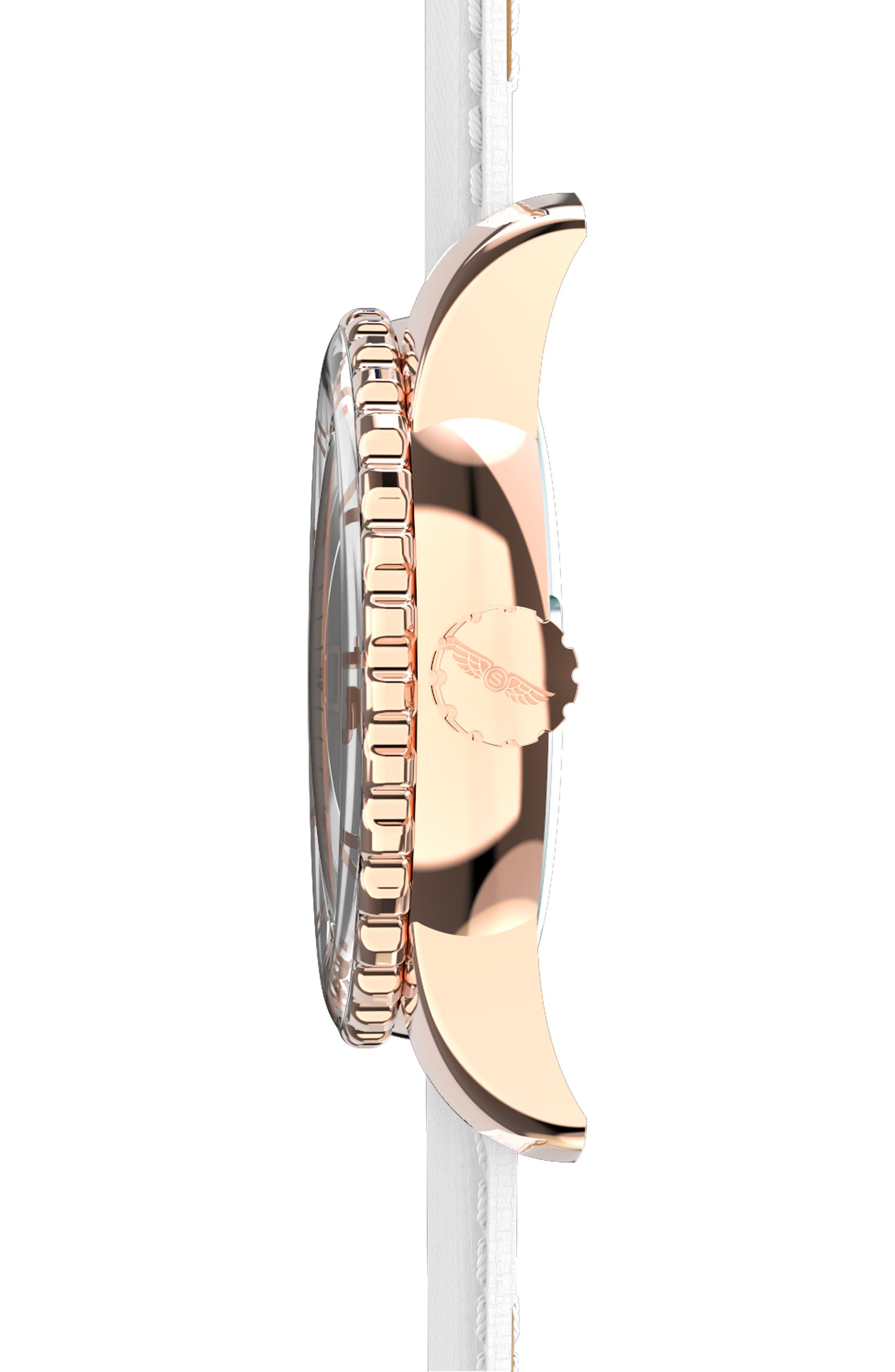 Alternate Image 3  - SKYWATCH Classic Woven Strap Watch, 38mm