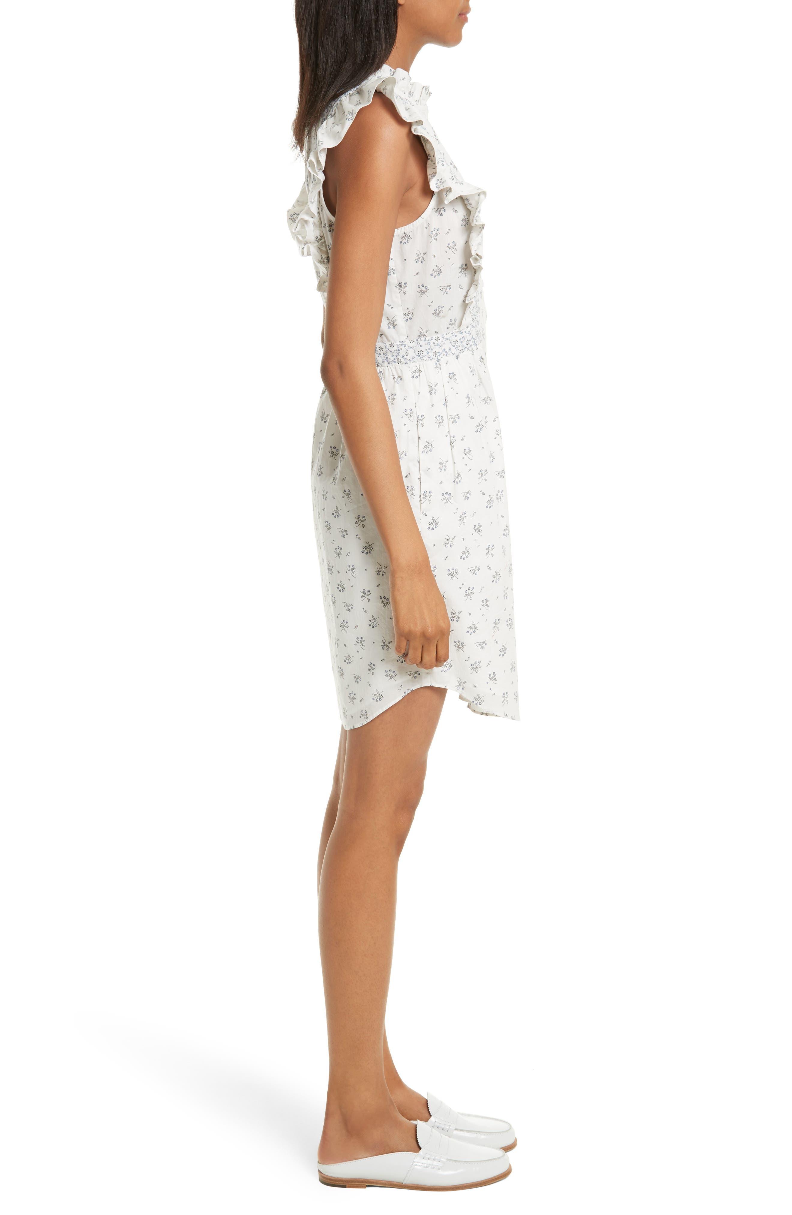 Alternate Image 3  - La Vie Rebecca Taylor Breeze Print Ruffle Shirtdress