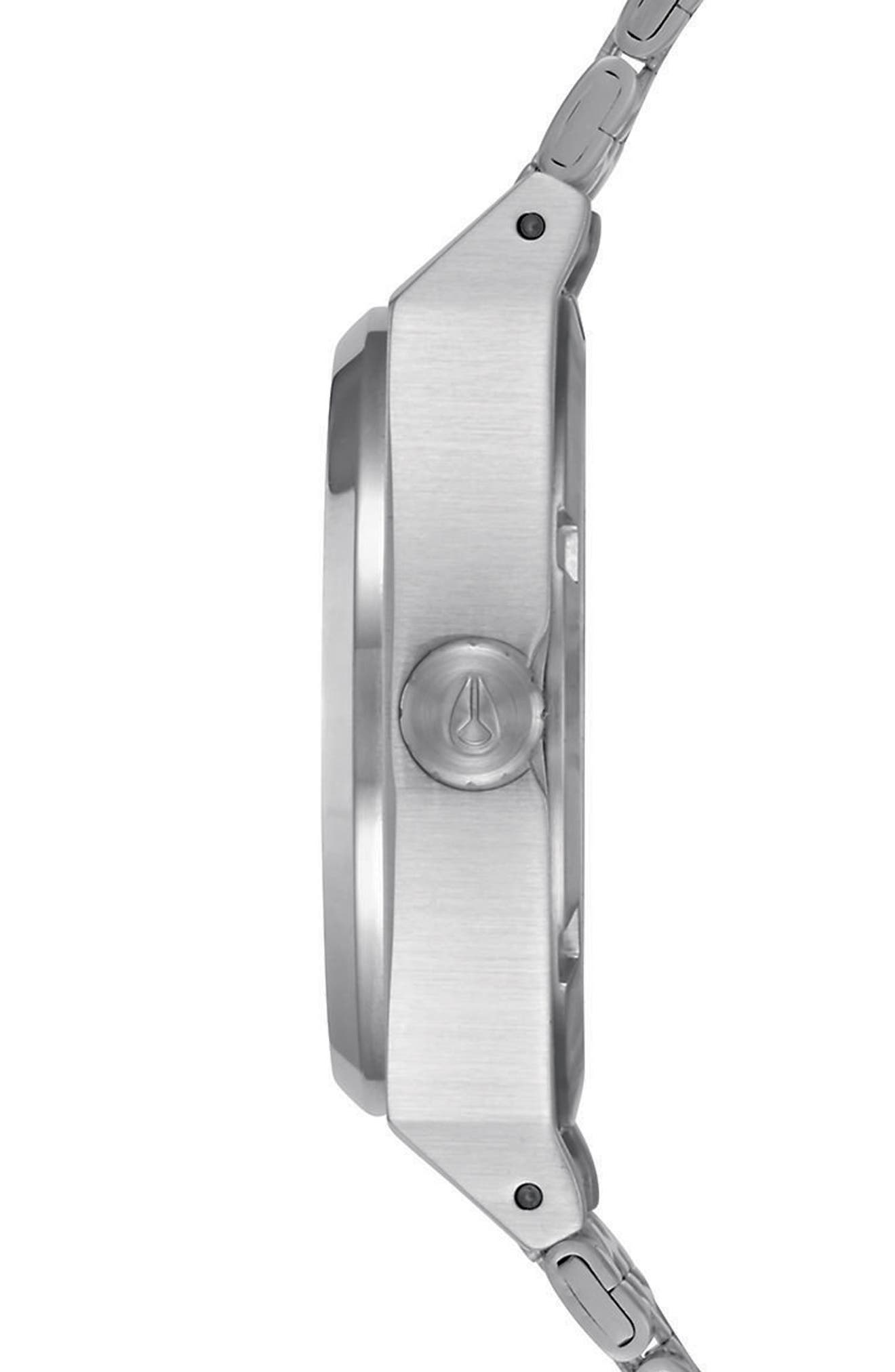 Time Teller Bracelet Watch, 31mm,                             Alternate thumbnail 3, color,                             Silver/ Navy/ Silver