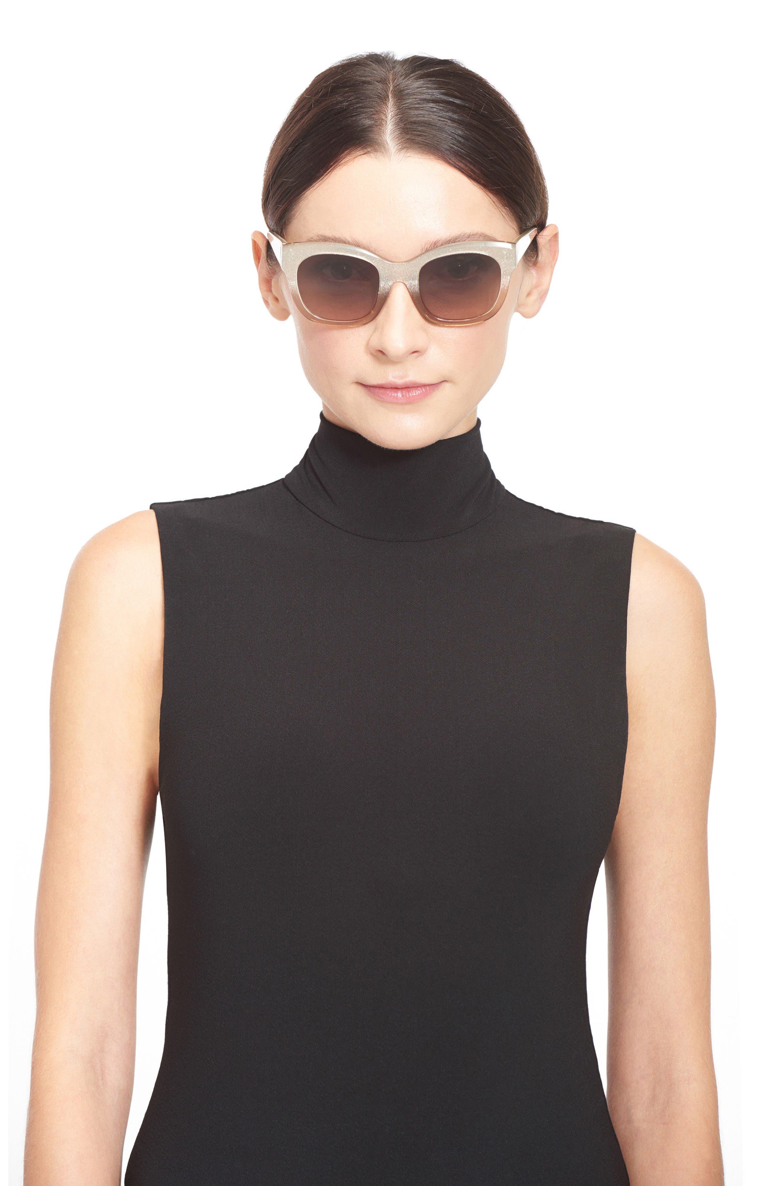 Alternate Image 2  - Alice + Olivia Victoria 50mm Cat Eye Sunglasses