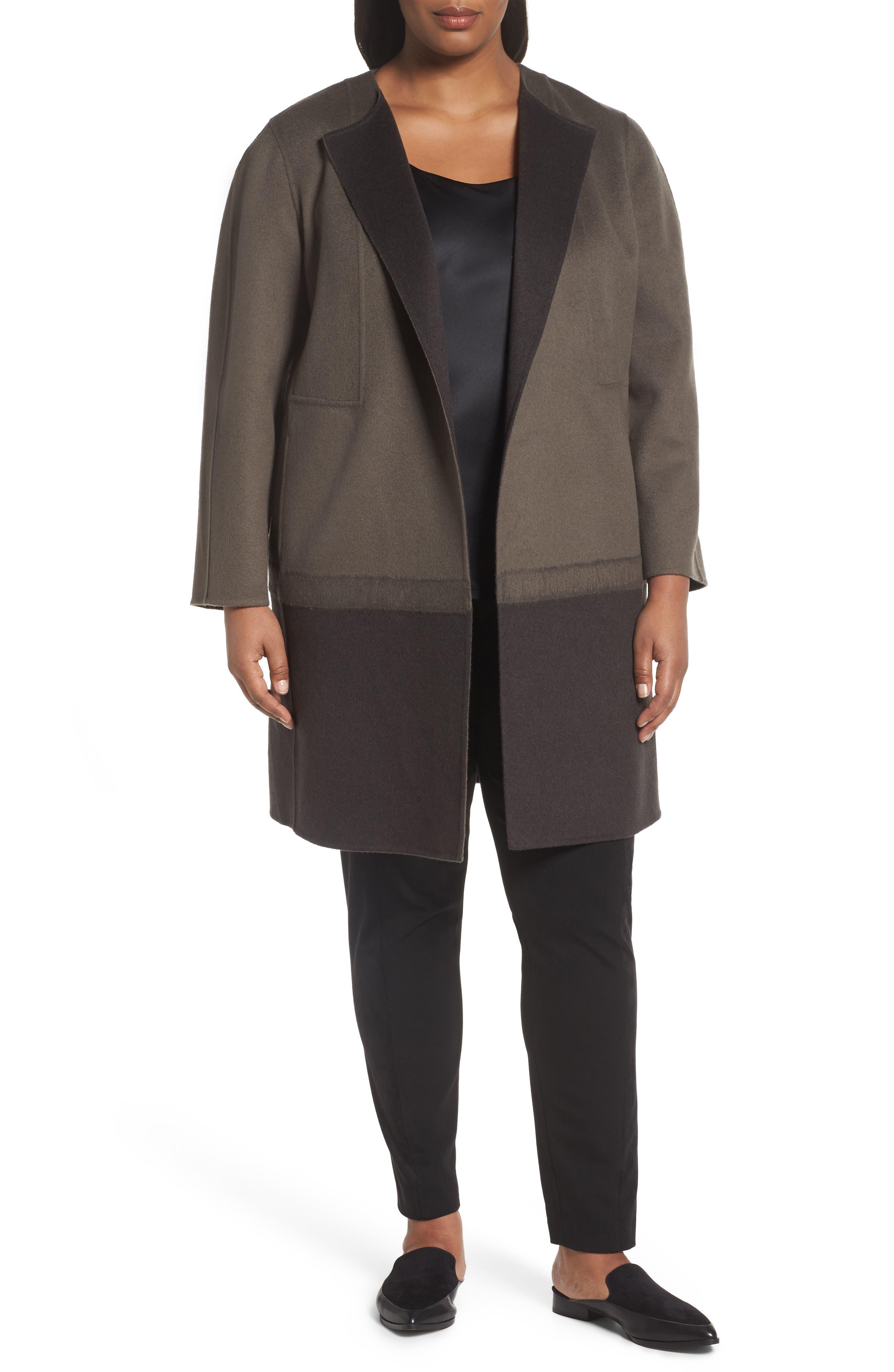 Lafayette 148 New York Hayes Wool & Cashmere Coat (Plus Size)