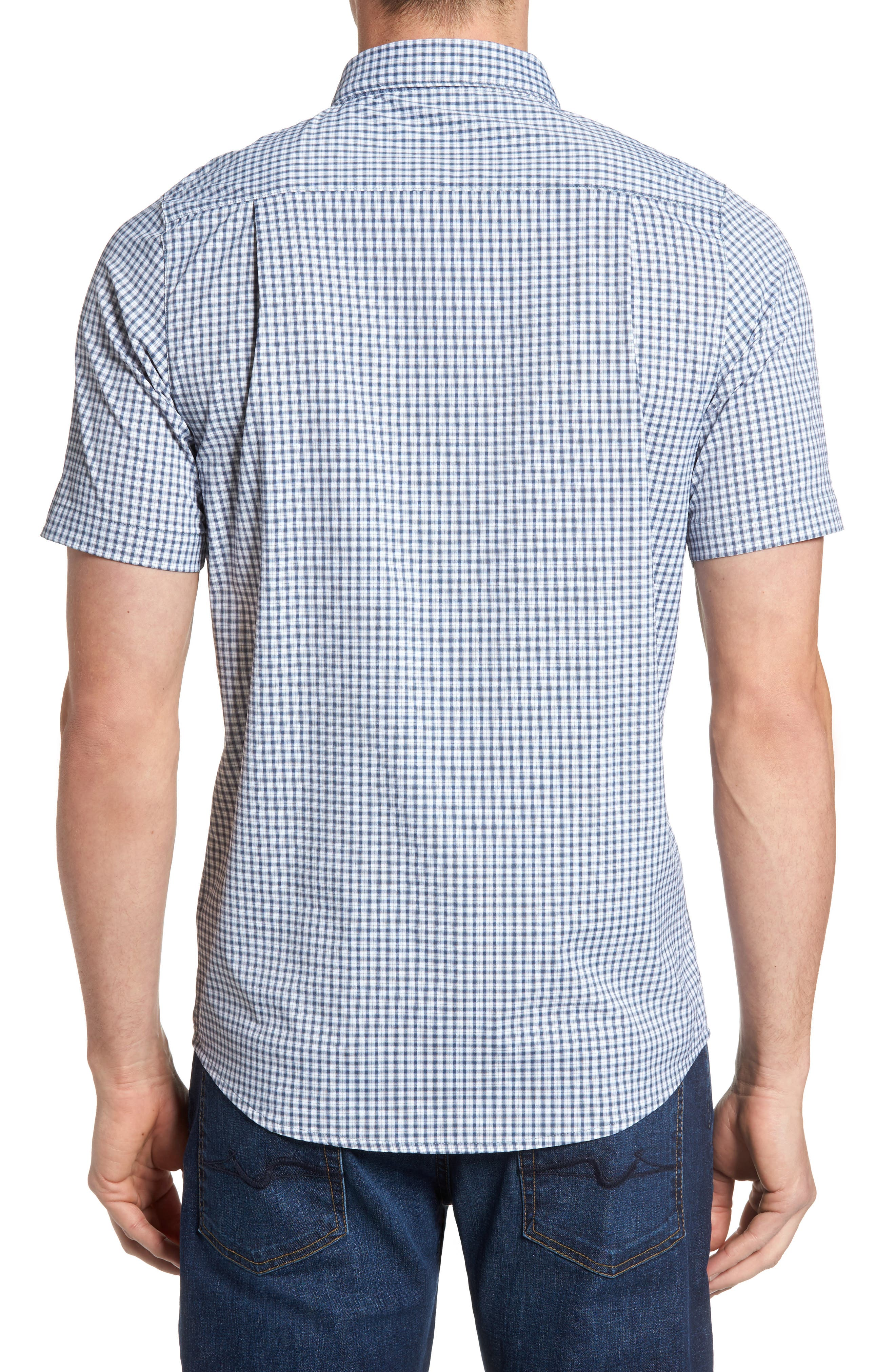 Alternate Image 2  - Travis Mathew Barker Trim Fit Plaid Sport Shirt