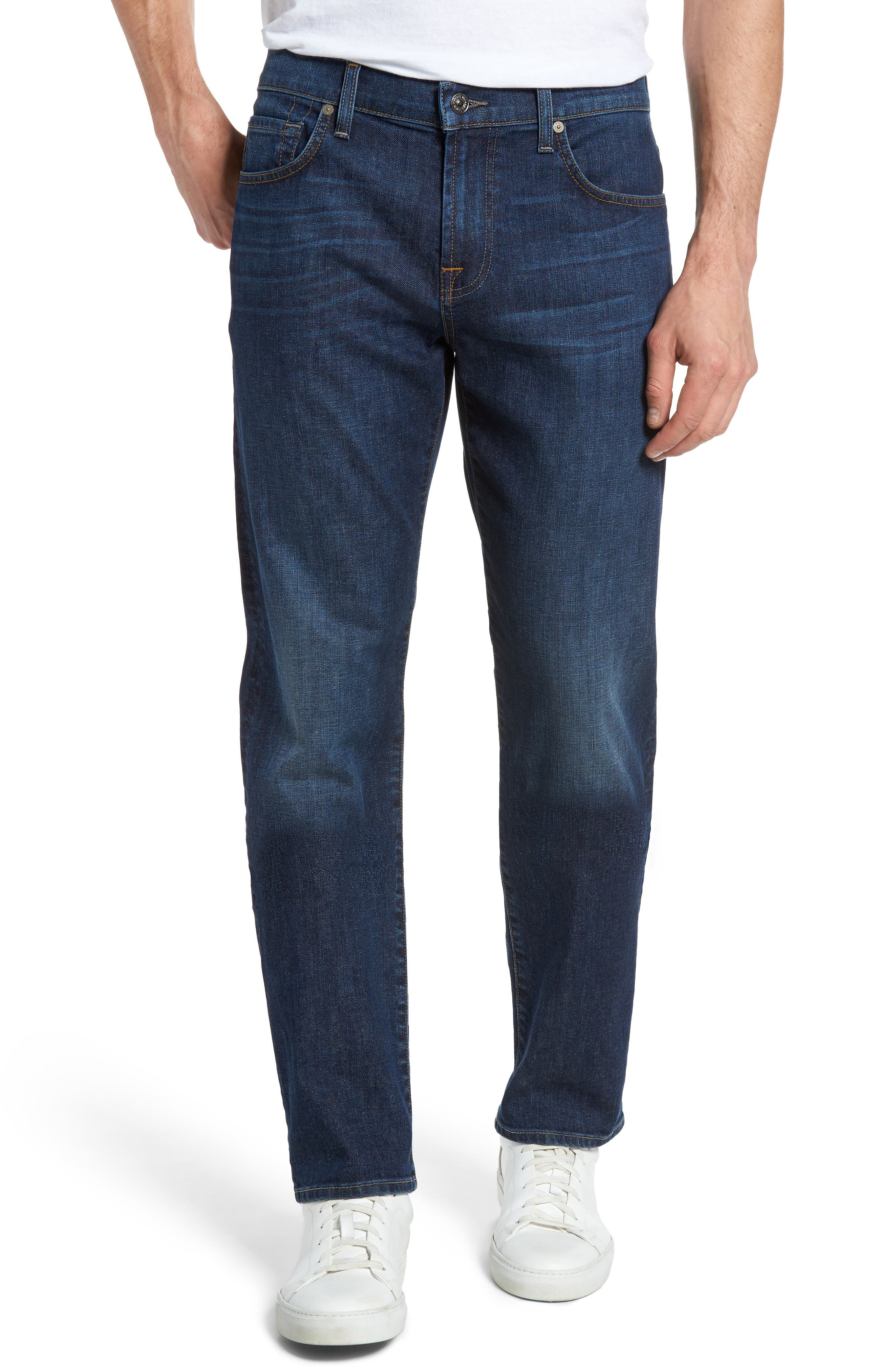 Main Image - 7 For All Mankind® The Straight Slim Straight Leg Jeans (South Kensington)