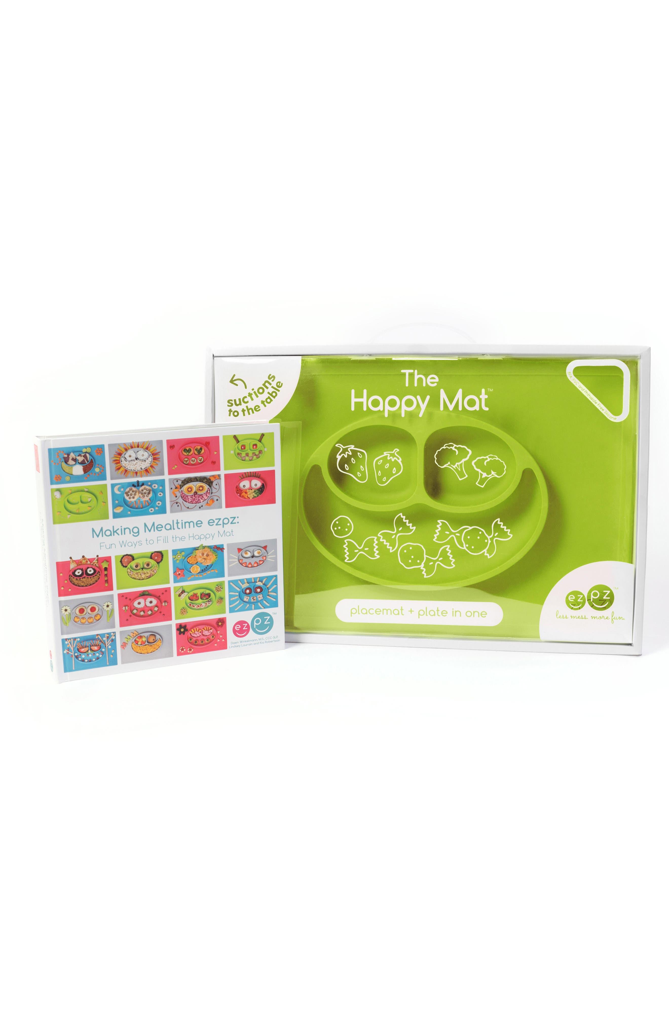 Alternate Image 1 Selected - ezpz Happy Mat Feeding Mat & Hardcover Book Set