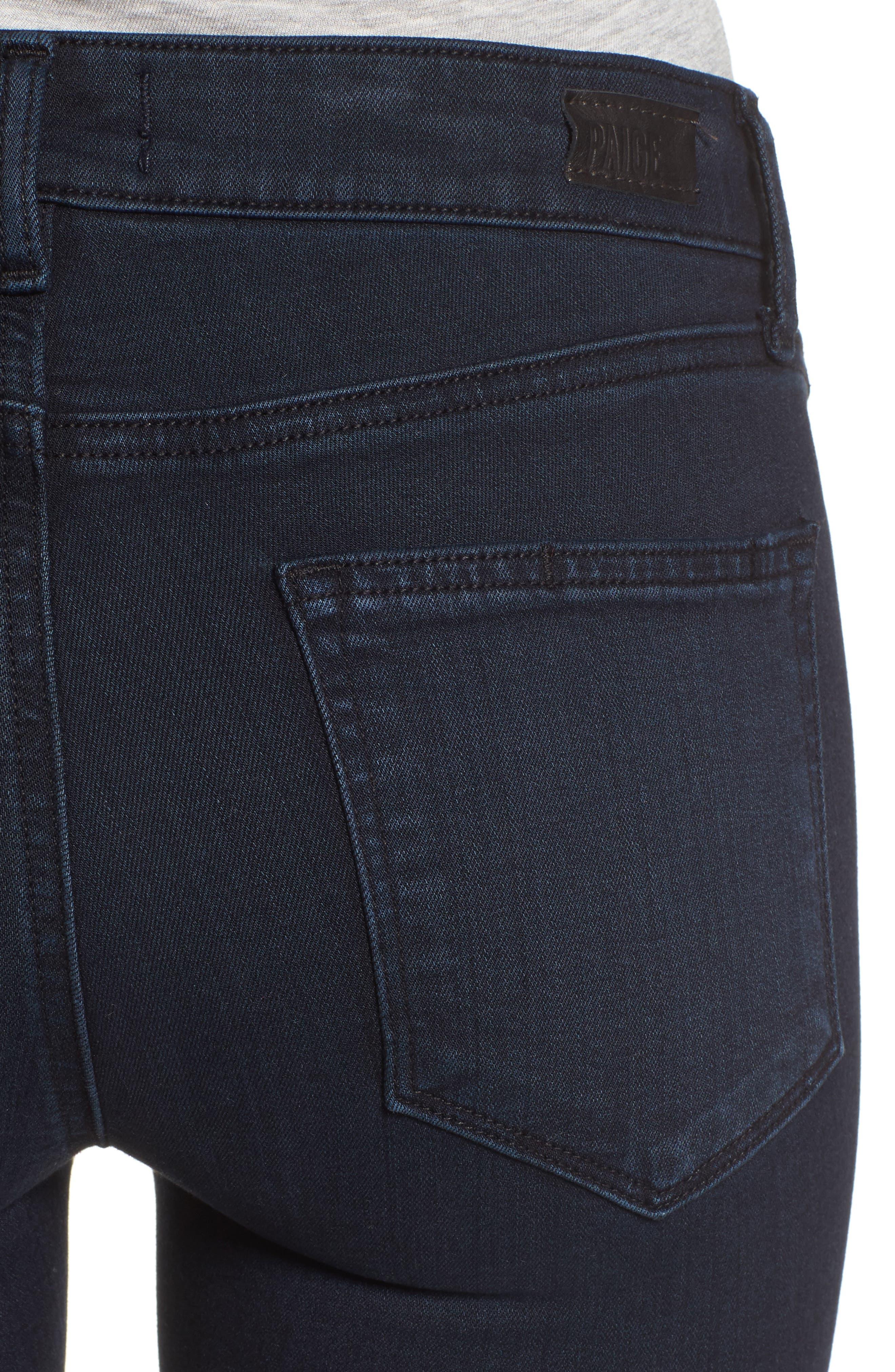 Alternate Image 4  - PAIGE Manhattan High Waist Bootcut Jeans (Brighton)