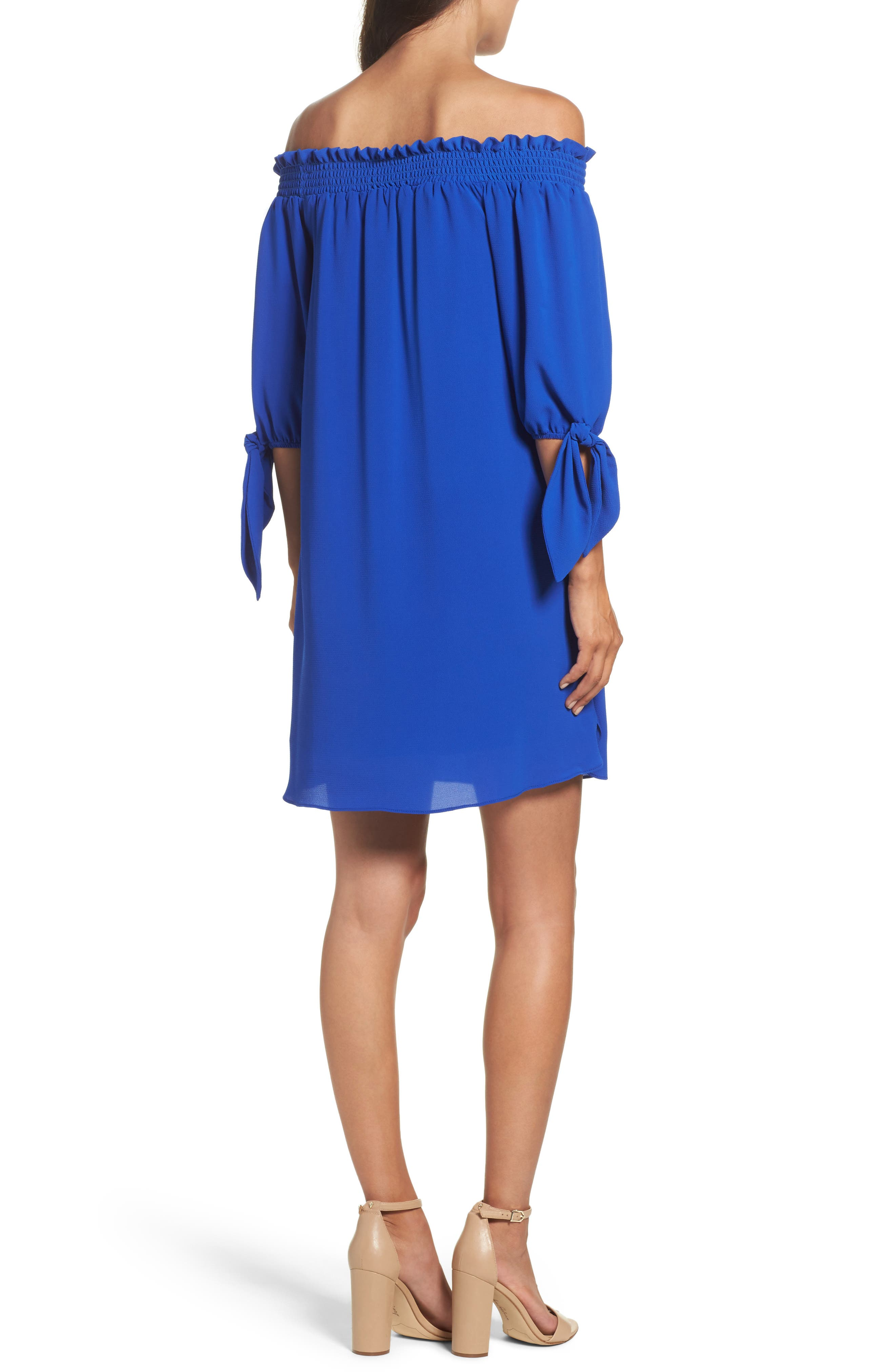 Alternate Image 2  - Vince Camuto Stretch Crepe Shift Dress (Regular & Petite)
