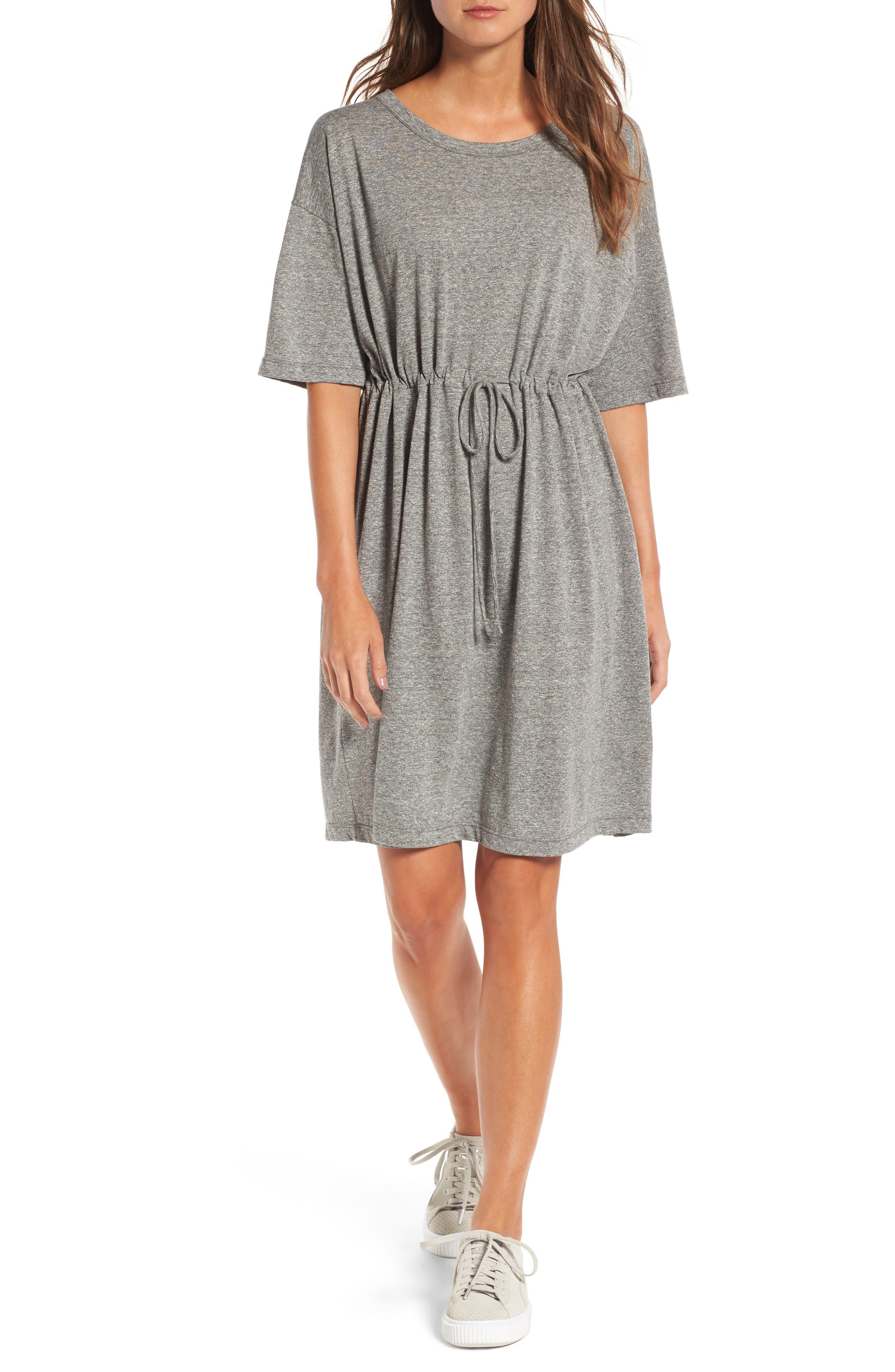 Main Image - Current/Elliott Drawstring Waist Shift Dress