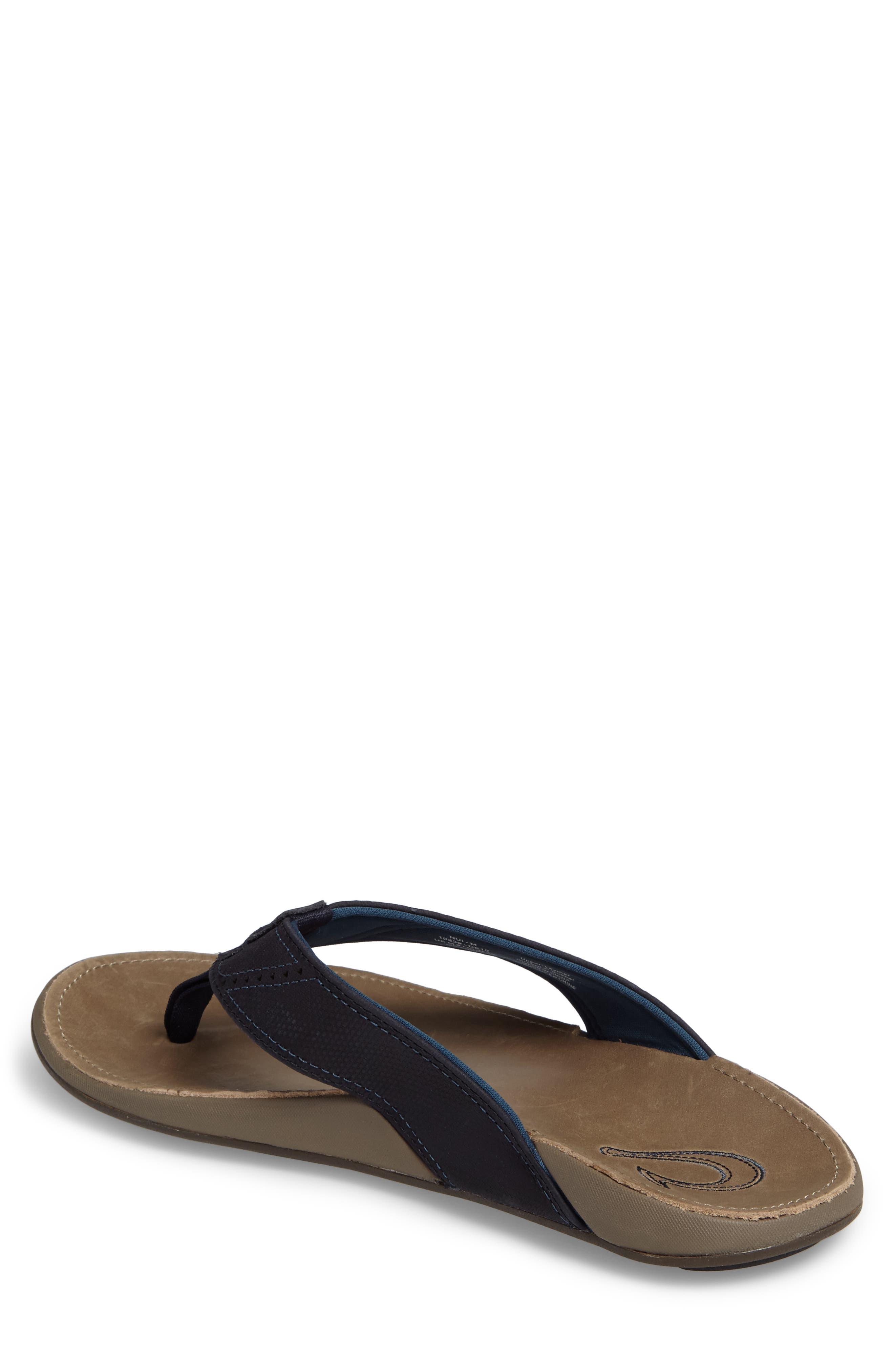 Alternate Image 2  - OluKai 'Nui' Leather Flip Flop (Men)