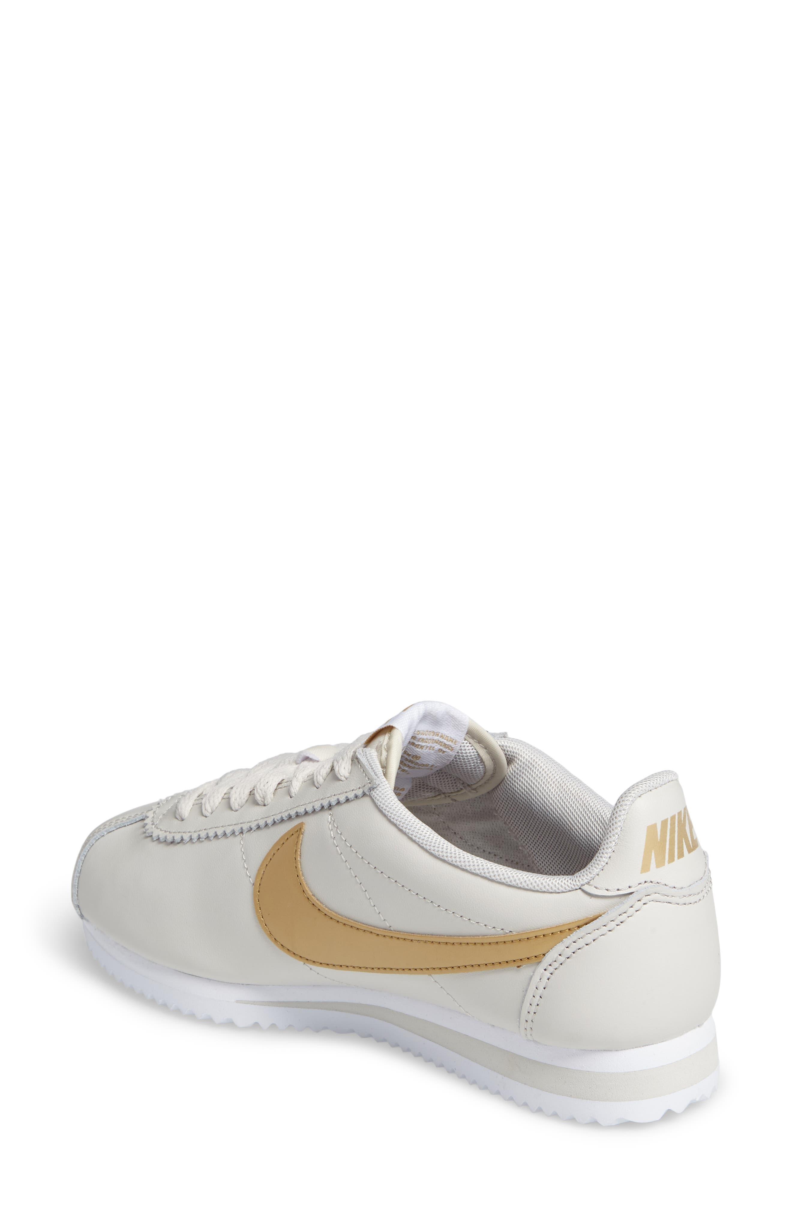 'Classic Cortez' Sneaker,                             Alternate thumbnail 4, color,                             Bone