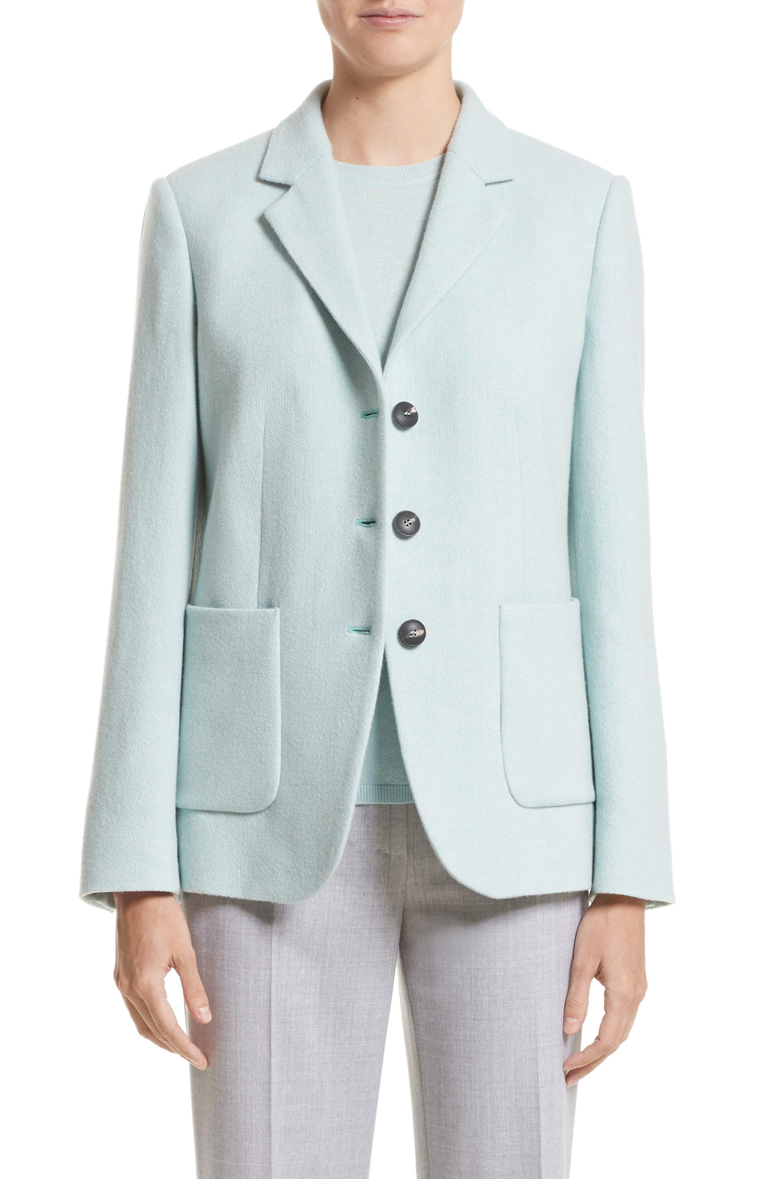 Pola Cashmere Jacket,                             Main thumbnail 1, color,                             Water