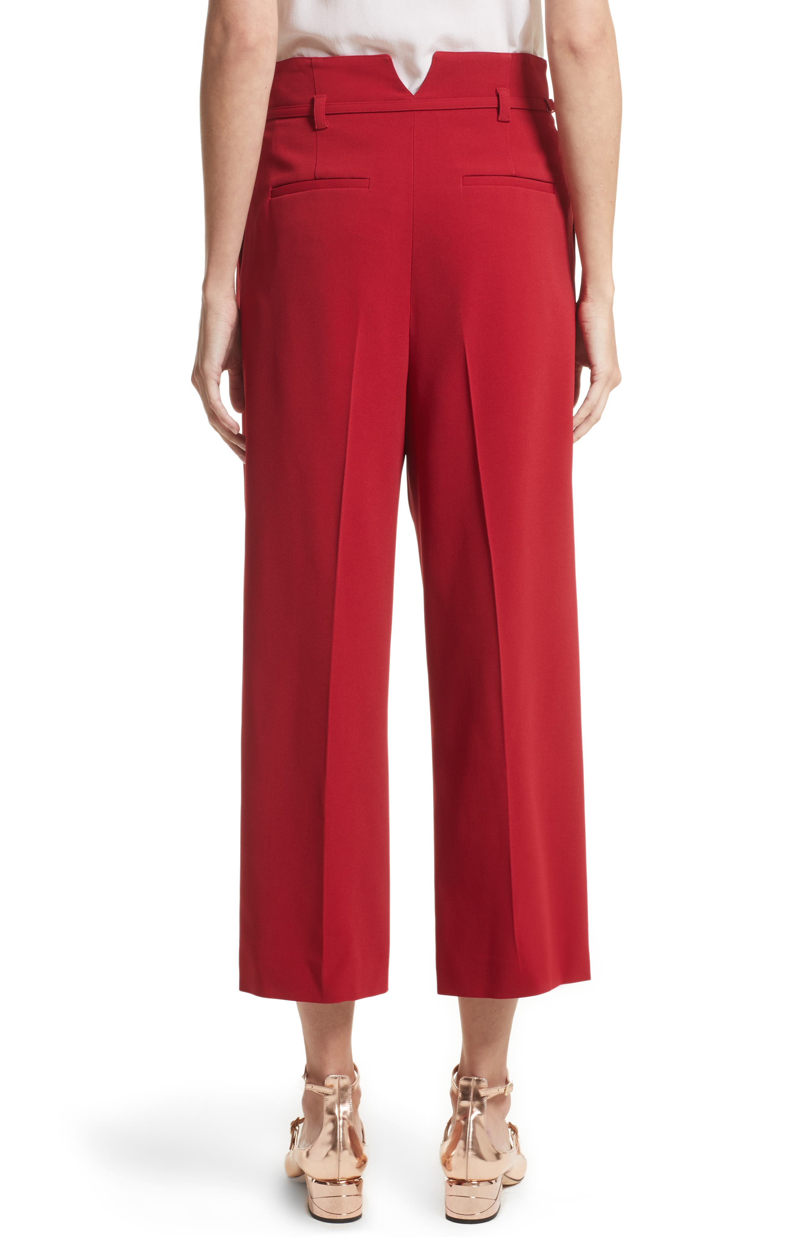 Stretch Crop Pants,                             Alternate thumbnail 2, color,                             Lacca