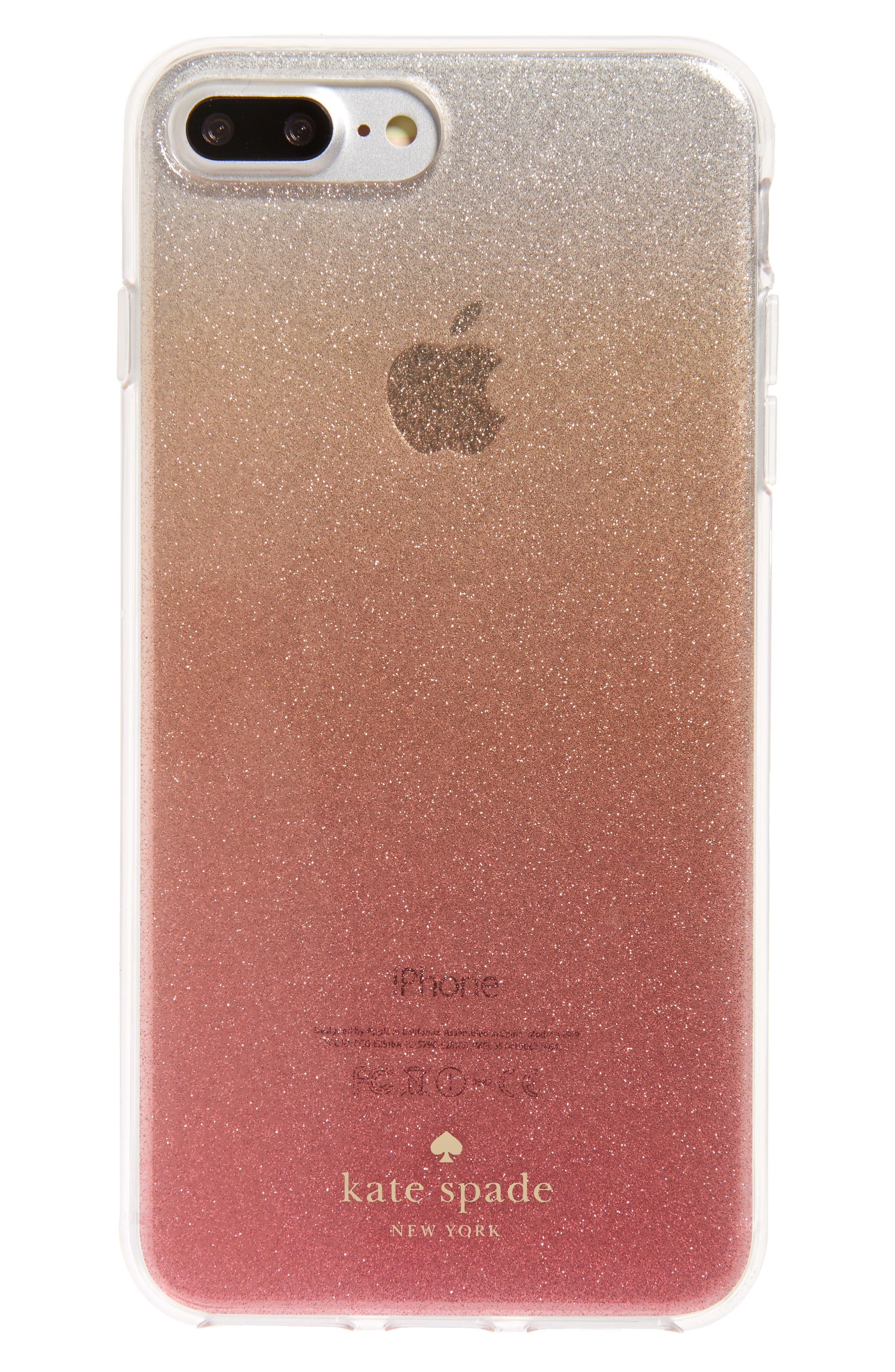 Main Image - kate spade new york glitter ombré iPhone 7/8 & 7/8 Plus case (Nordstrom Exclusive)